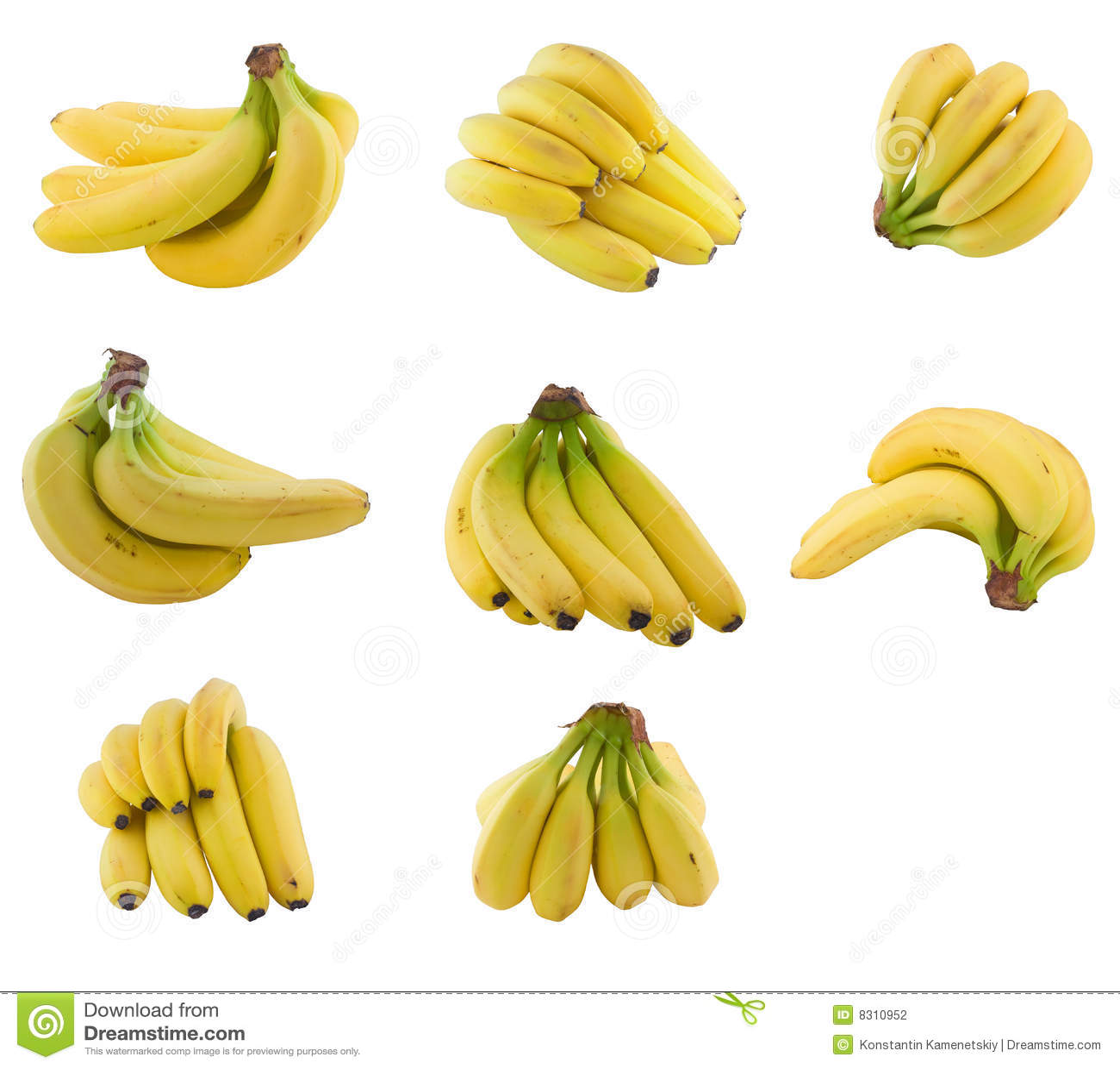 συλλογή τομέων μπανανών