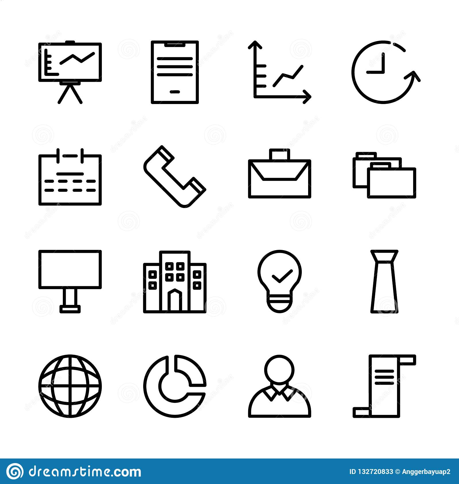 Συλλογή του συνόλου επιχειρησιακών εικονιδίων κατάλληλος για το μάρκετινγκ, τη χρηματοδότηση, και άλλη σχετική επιχείρηση