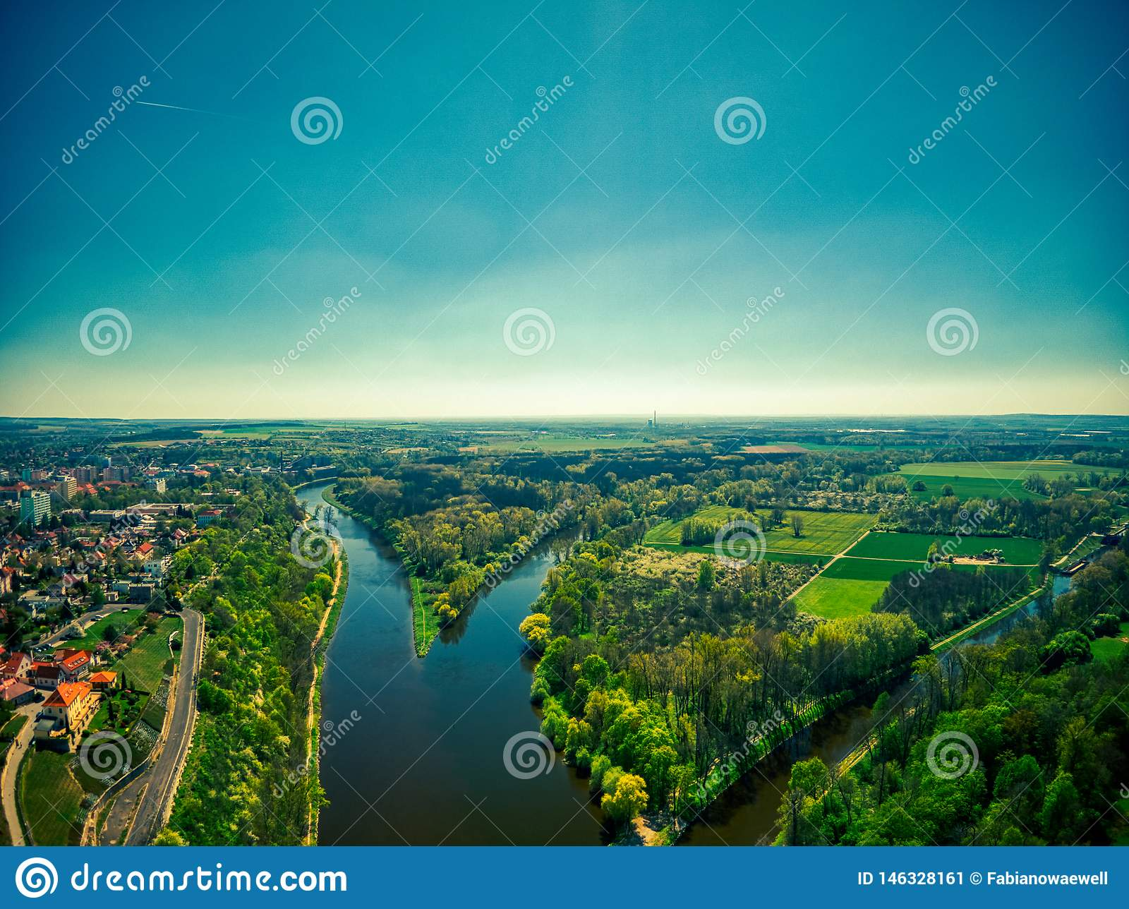 Συμβολή των ποταμών Elbe και Vltava