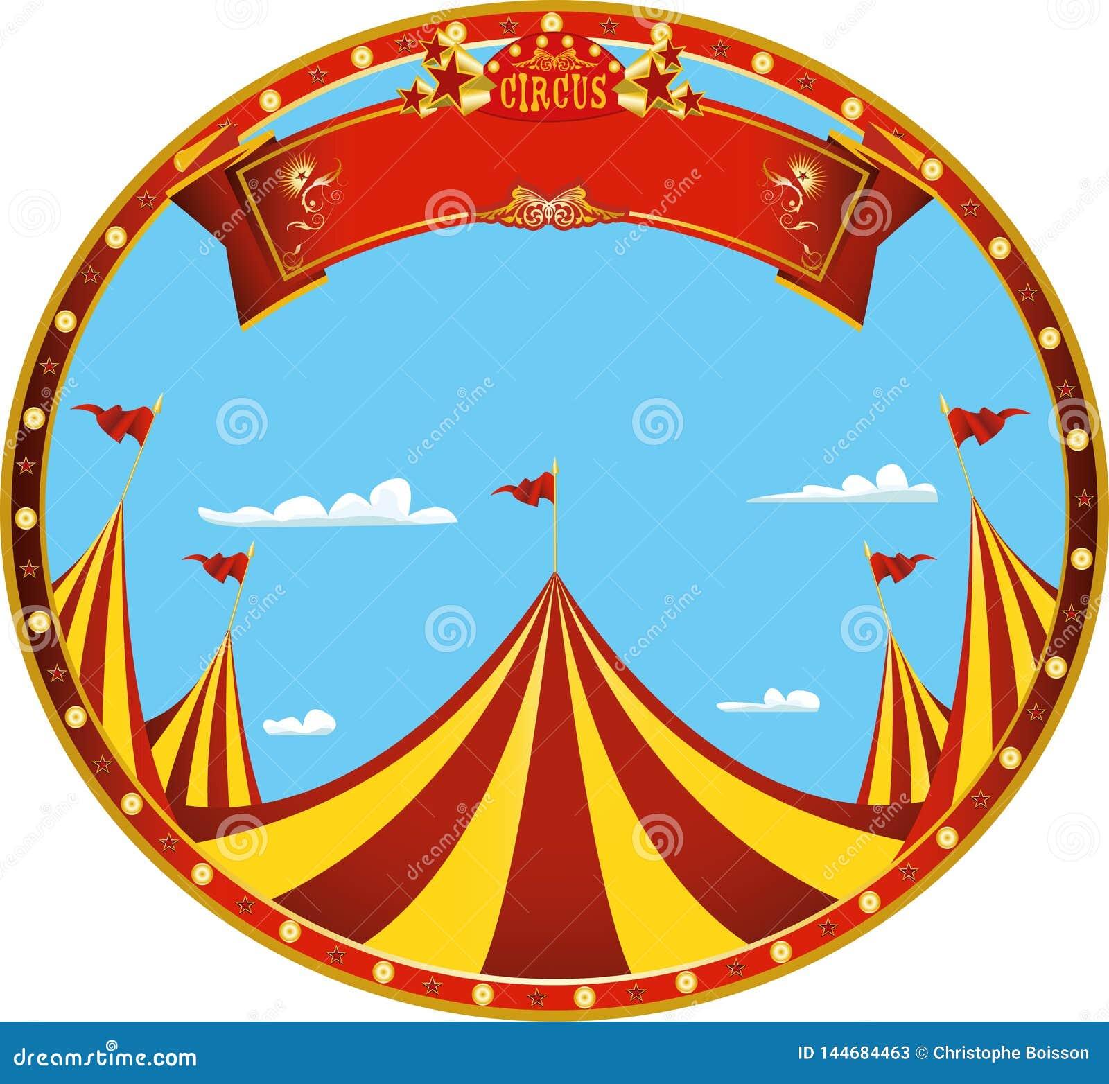 Συμπαθητικό τσίρκο ημέρας αυτοκόλλητων ετικεττών
