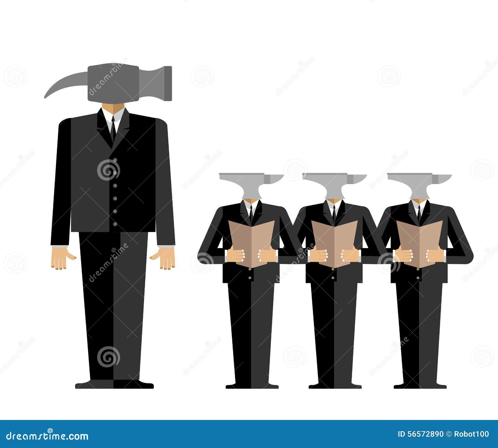 Download Συνάντηση στην αρχή Το κύριος-σφυρί παρέχει οδηγίες στους υφισταμένους α Διανυσματική απεικόνιση - εικονογραφία από άνθρωποι, επιχειρηματίας: 56572890