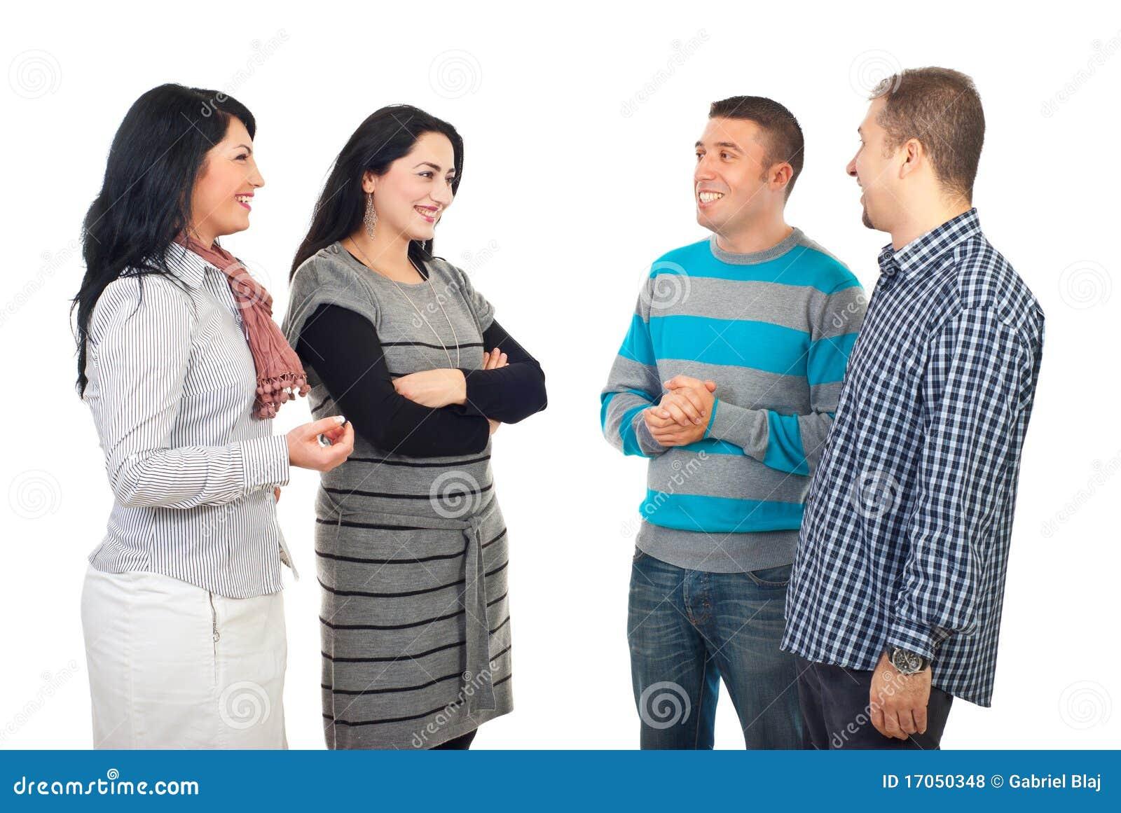 συνάντηση τεσσάρων φίλων