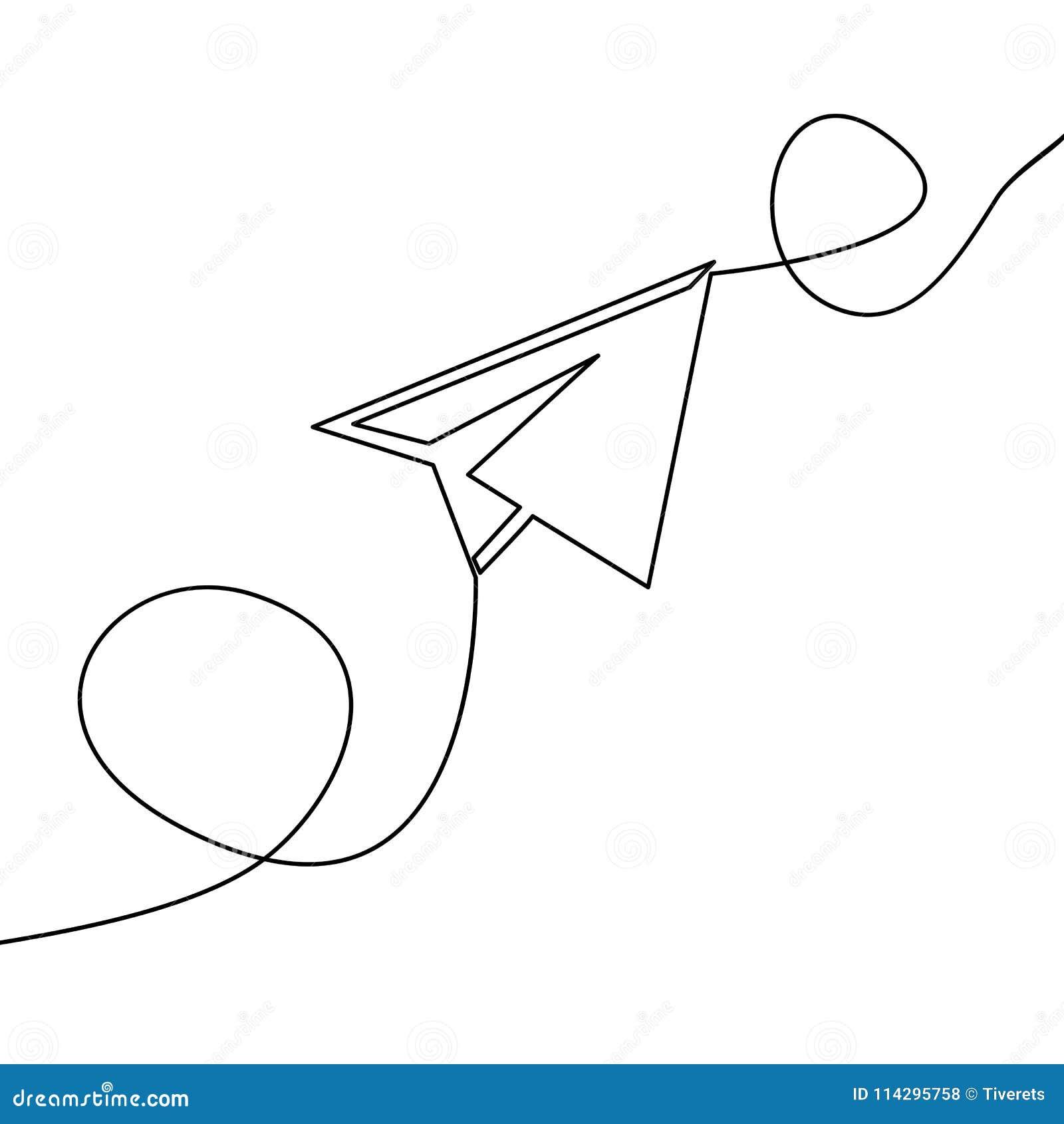 Συνεχής διανυσματικό αεροπλάνο εγγράφου σχεδίων γραμμών
