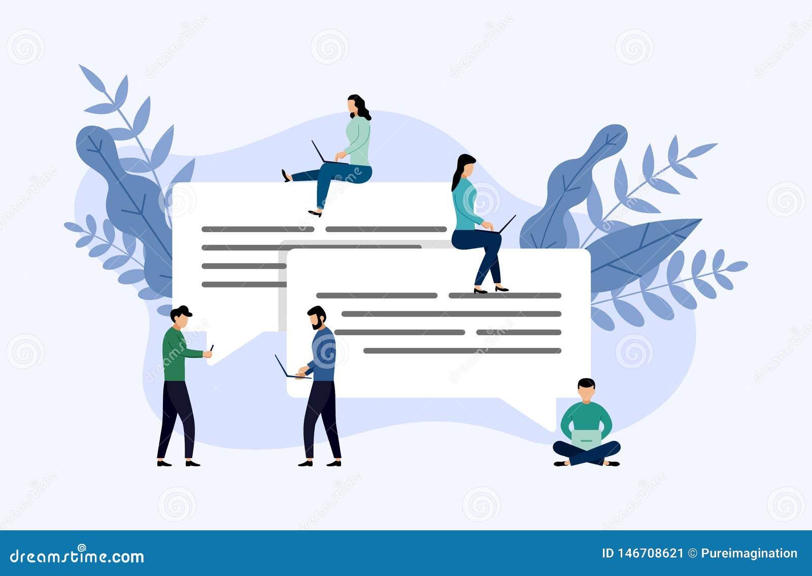 Συνομιλία φυσαλίδων μηνυμάτων, σε απευθείας σύνδεση να κουβεντιάσει ανθρώπων, επιχειρησιακή έννοια