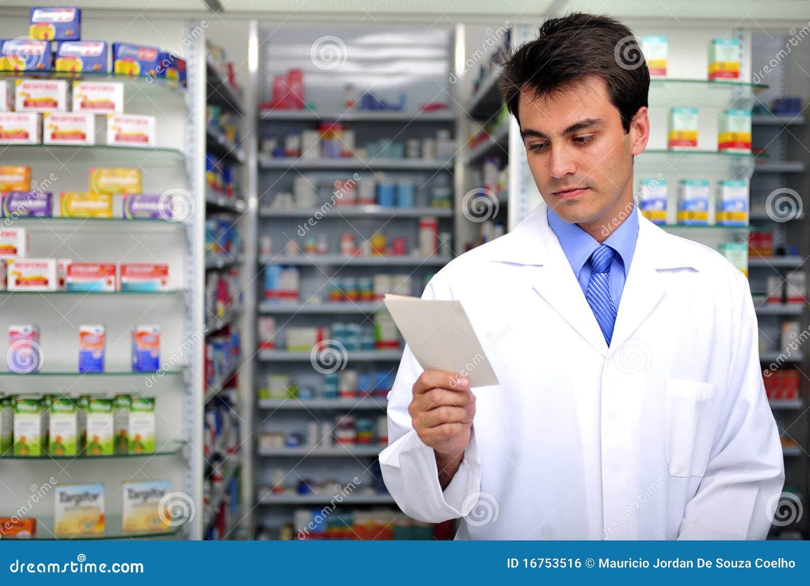 Συνταγή ανάγνωσης φαρμακοποιών στο φαρμακείο