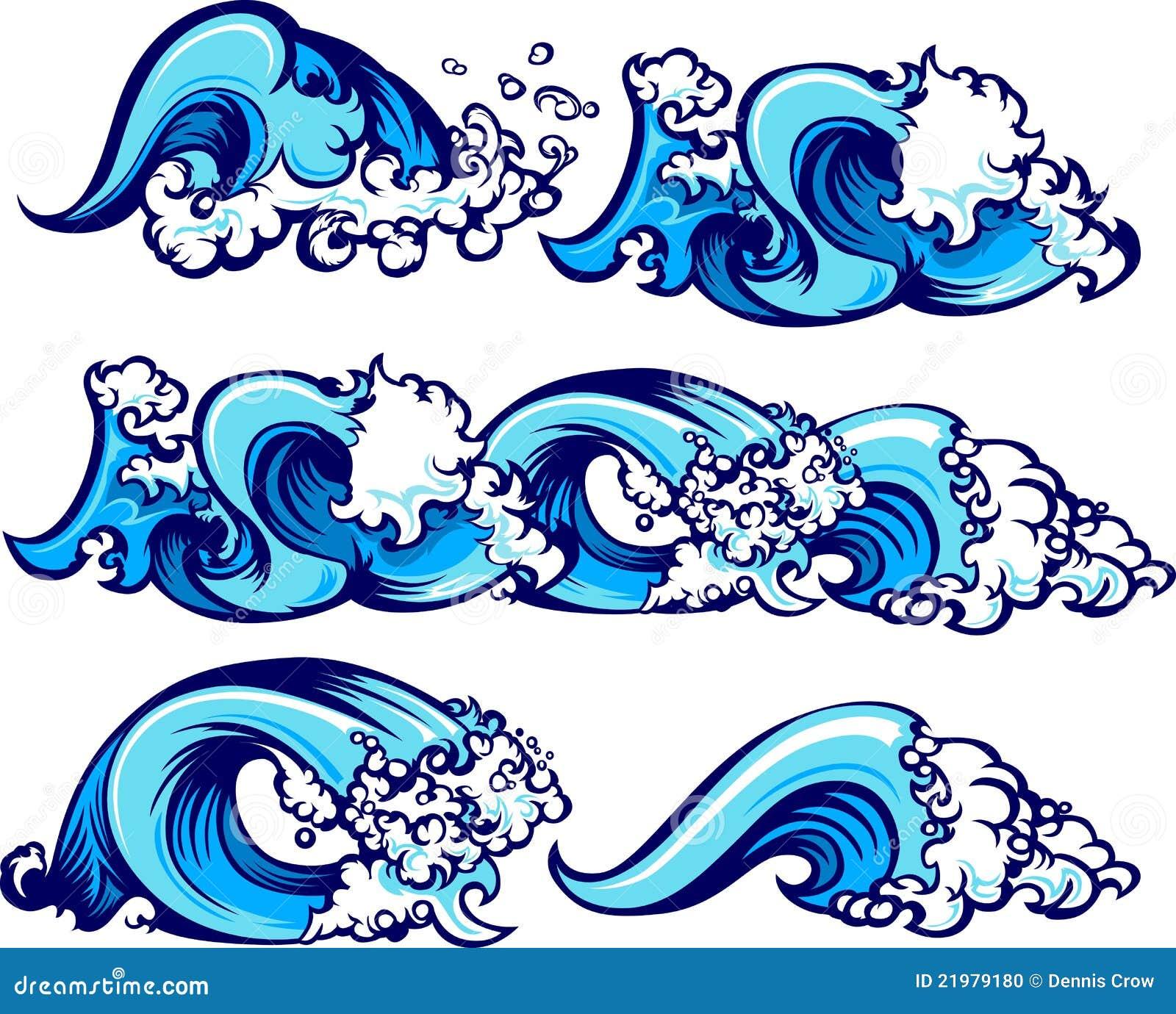 συντρίβοντας κύματα ύδατ&omicro