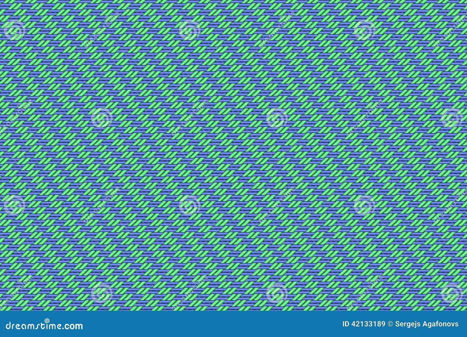Συνδυασμένο πλέγμα - πράσινη χλωμή ύφανση βιολέτων και μεντών