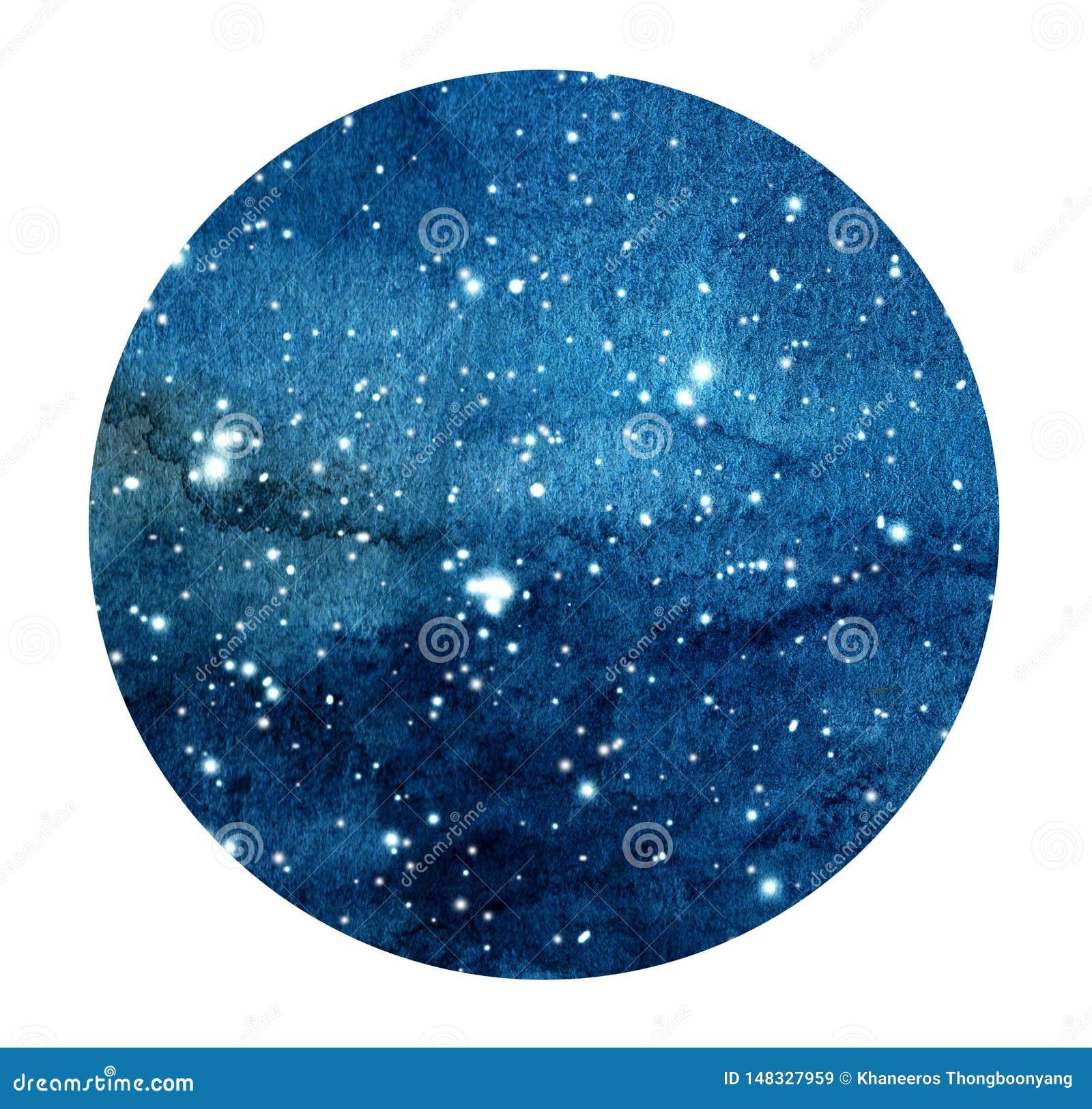 Συρμένος χέρι τυποποιημένος γαλαξίας ή νυχτερινός ουρανός grunge με τα αστέρια Διαστημικό υπόβαθρο Watercolor