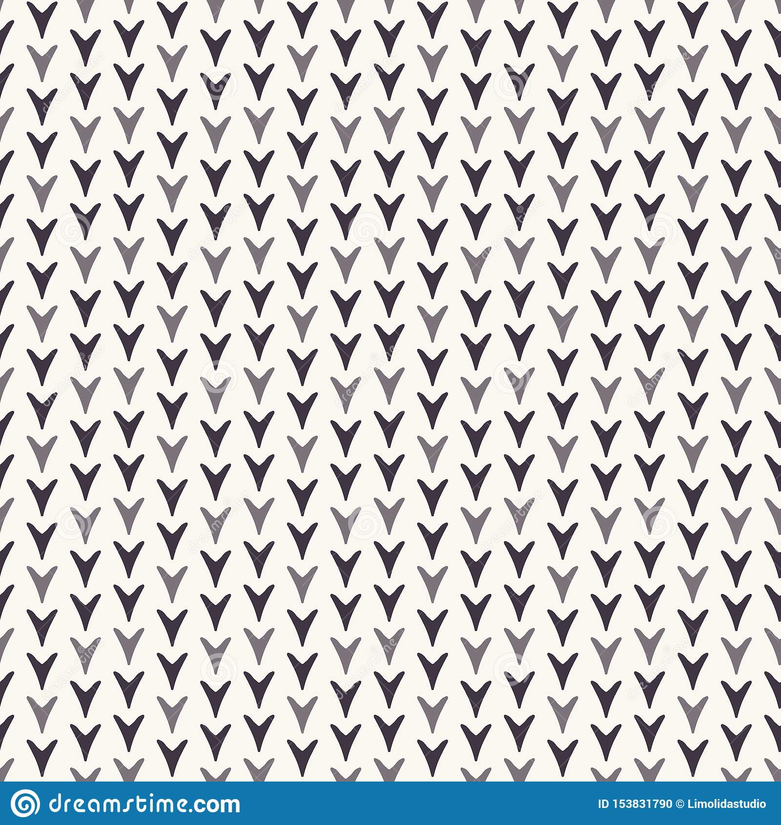 Συρμένο αφηρημένο σχέδιο φυλλώματος Χριστουγέννων Μικροσκοπικό φύλλο καρδιών στο άσπρο υπόβαθρο ecru Οι χαριτωμένες χειμερινές δι