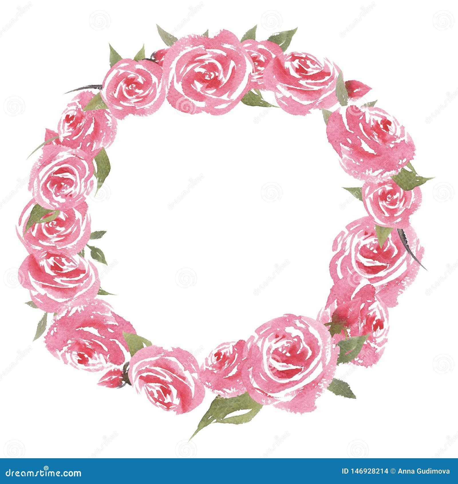 Συρμένο χέρι όμορφο ζωηρόχρωμο εκλεκτής ποιότητας πλαίσιο watercolor με τα λουλούδια