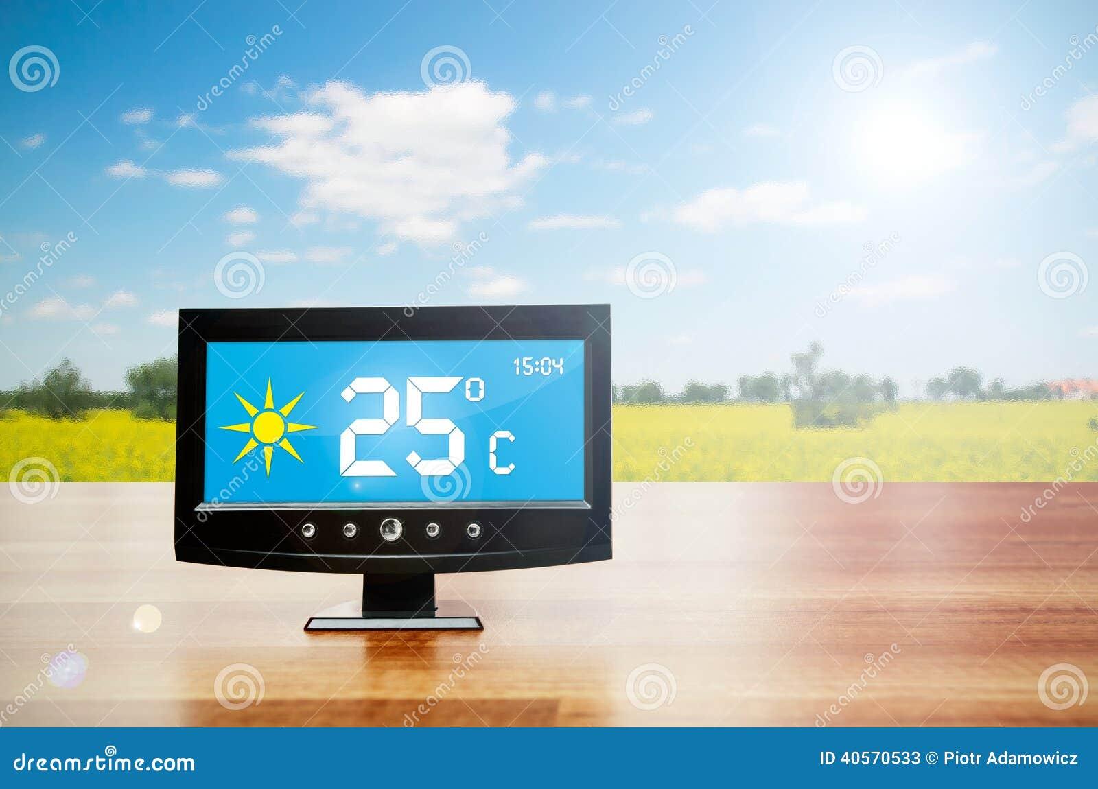 Συσκευή καιρικών σταθμών με τις καιρικές συνθήκες