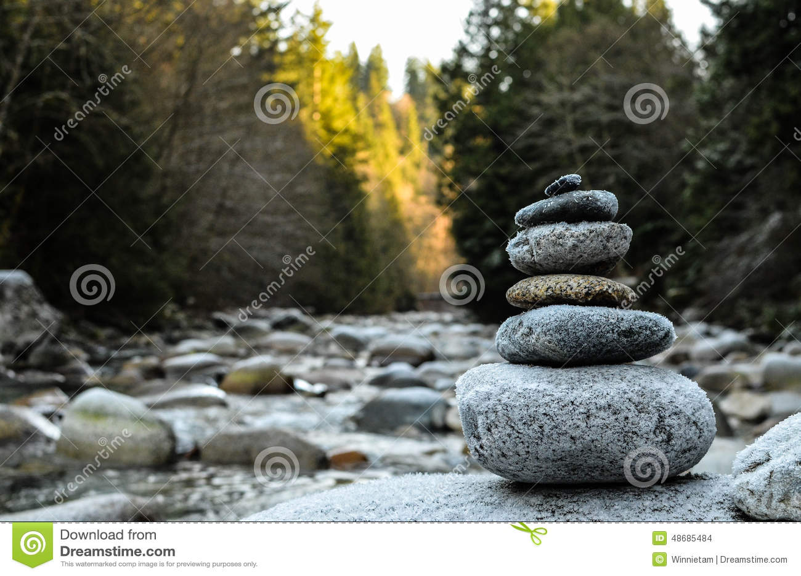 Συσσωρευμένοι βράχοι από τον ποταμό