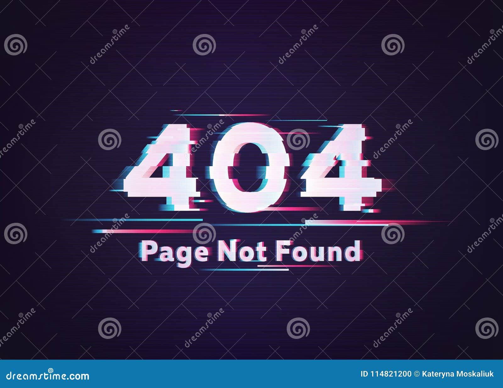 σφάλμα 404 βρήκε όχι τη σελίδα Διανυσματική απεικόνιση δυσλειτουργίας