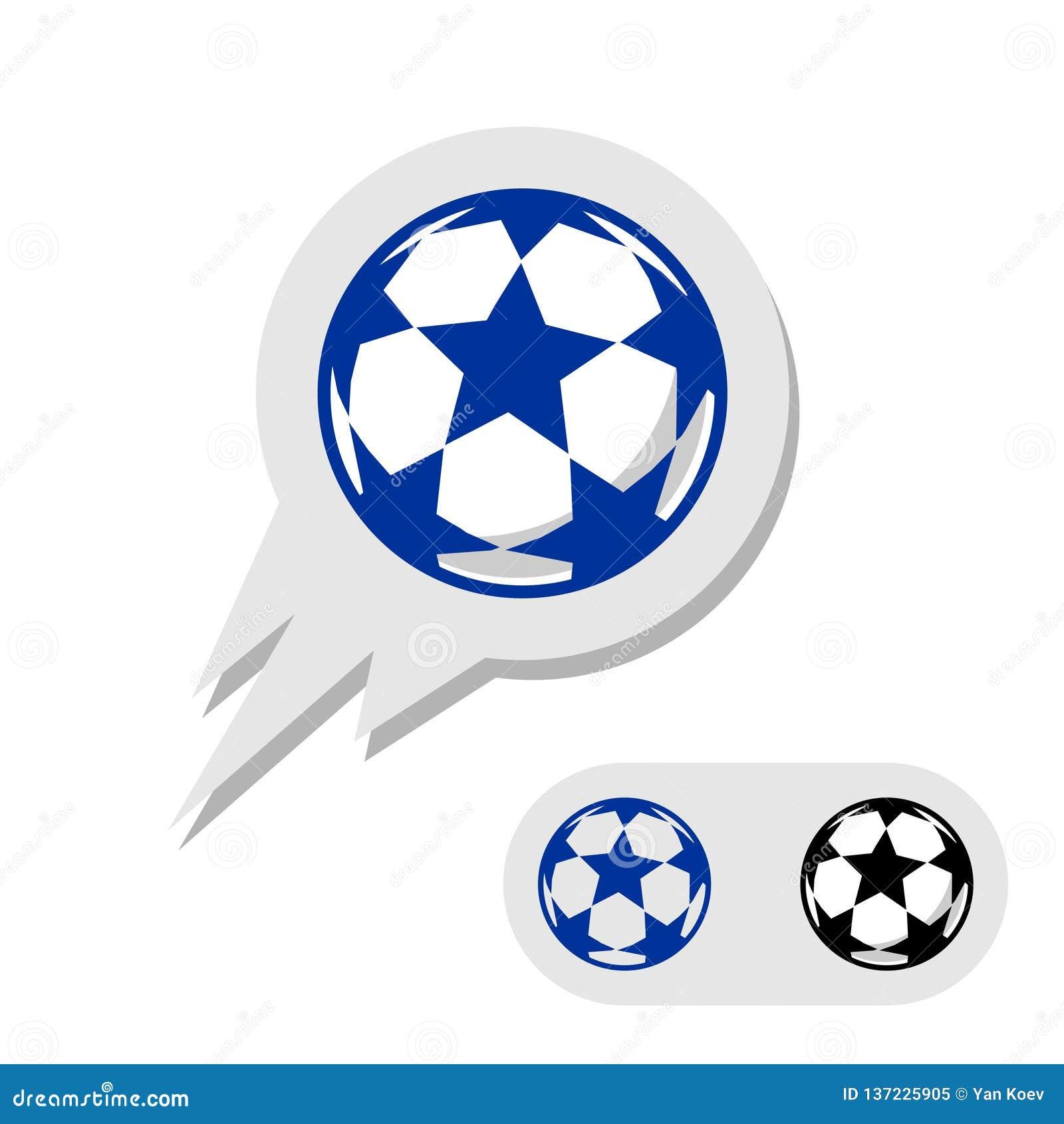 Σφαίρα ποδοσφαίρου ποδοσφαίρου με το λογότυπο αστεριών