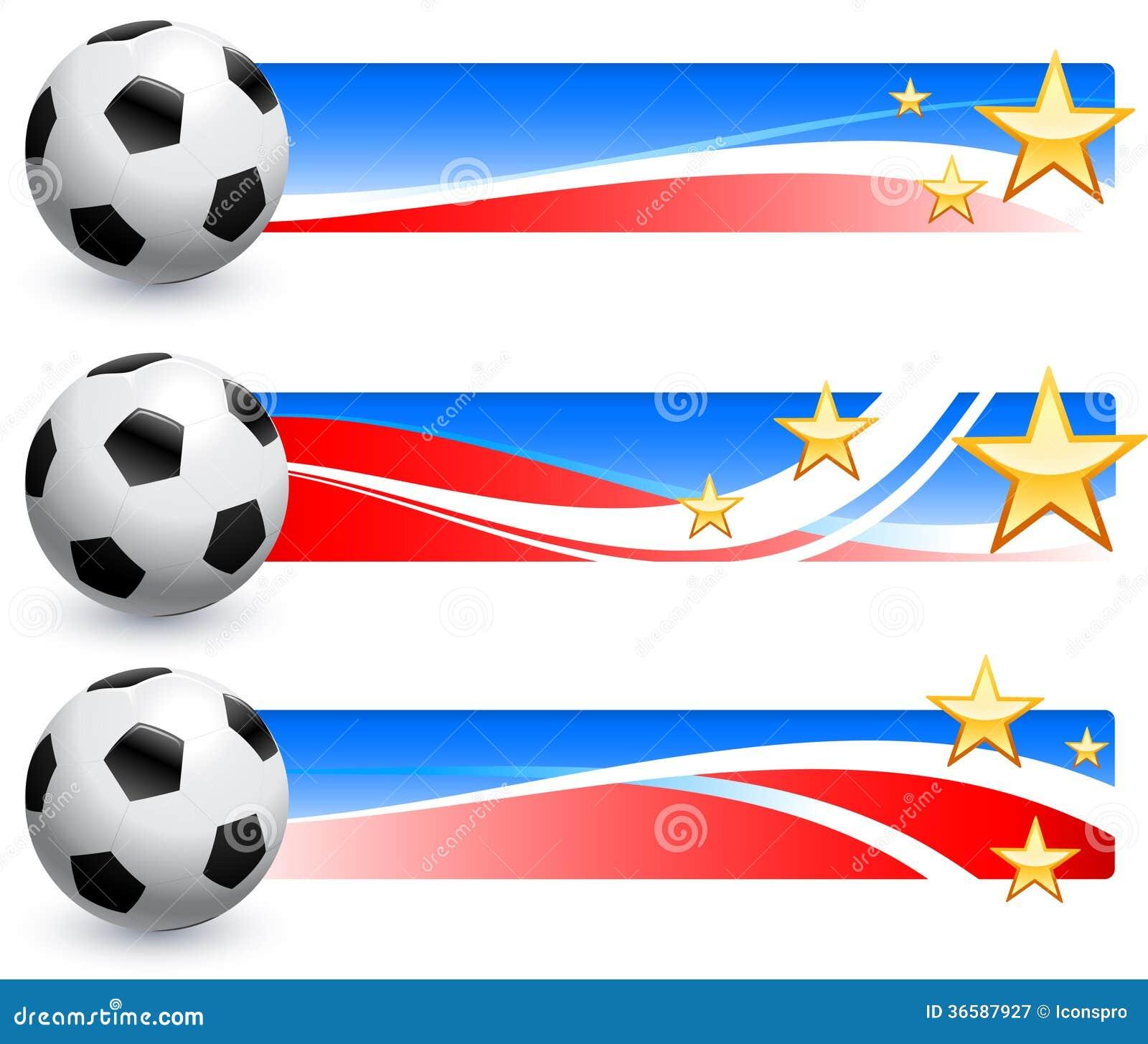 Σφαίρα ποδοσφαίρου (ποδόσφαιρο) με τα αμερικανικά εμβλήματα