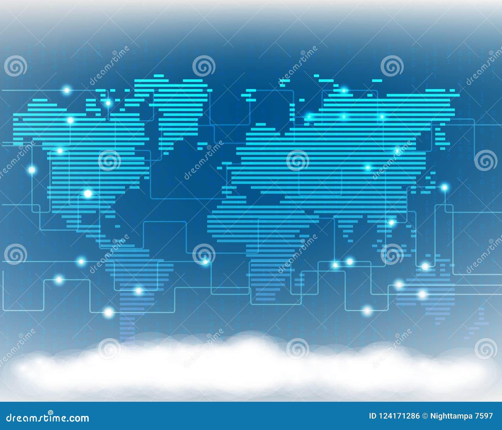 Σφαιρική ποιότητα SYS γραμμών δικτύων πληροφοριών στοιχείων σύννεφων παγκόσμιων χαρτών