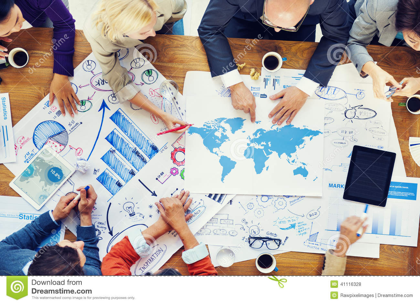Σφαιρικοί οικονομικοί επιχειρησιακή συνεδρίαση και προγραμματισμός