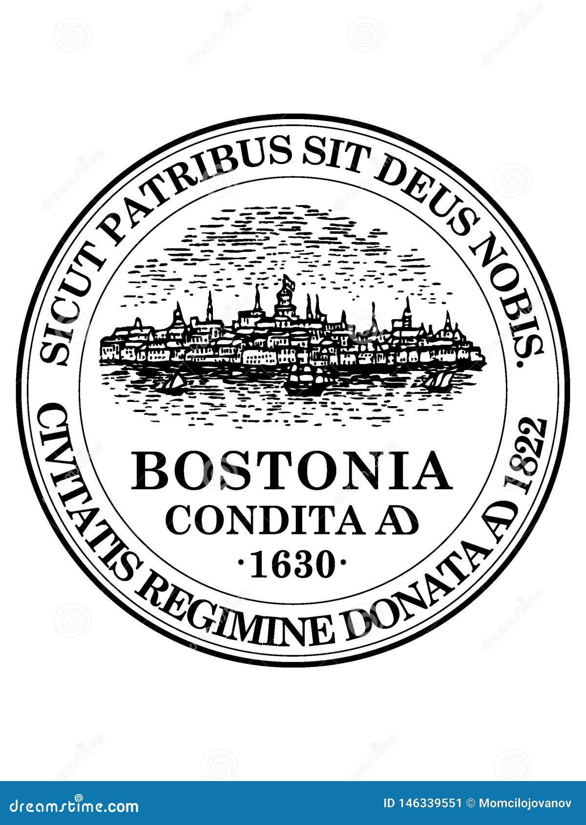 Σφραγίδα της ΑΜΕΡΙΚΑΝΙΚΗΣ πόλης της Βοστώνης, Μασαχουσέτη