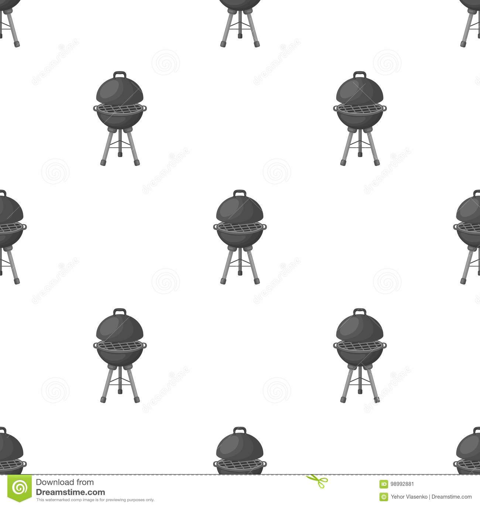 Σχάρα για τη σχάρα BBQ ενιαίο εικονίδιο στο μονοχρωματικό Ιστό απεικόνισης αποθεμάτων συμβόλων ύφους διανυσματικό