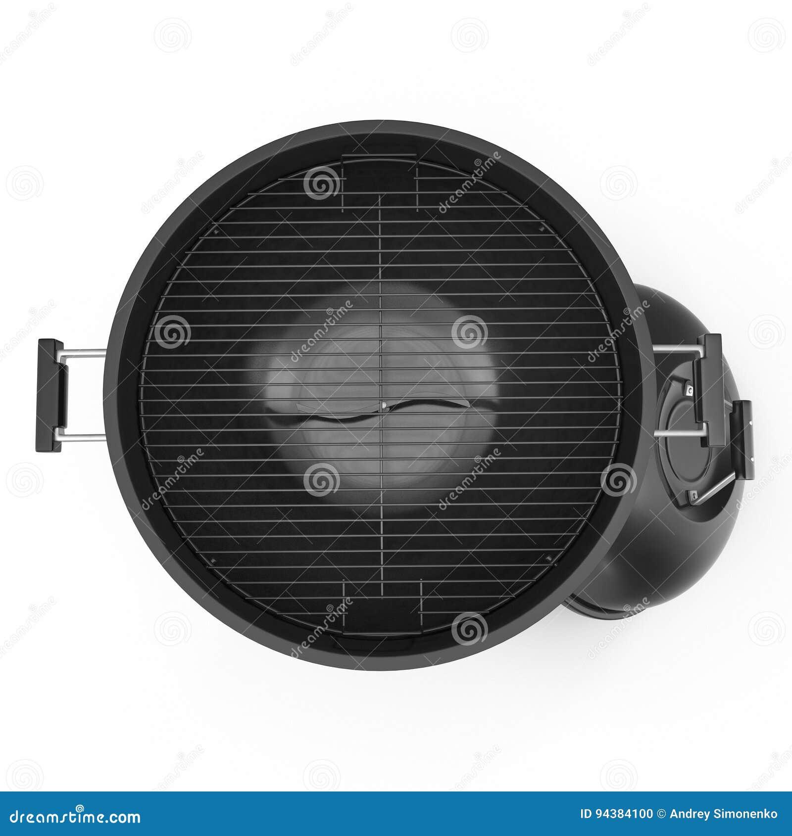 Σχάρα σχαρών που απομονώνεται στο λευκό Τοπ όψη τρισδιάστατη απεικόνιση, πορεία ψαλιδίσματος