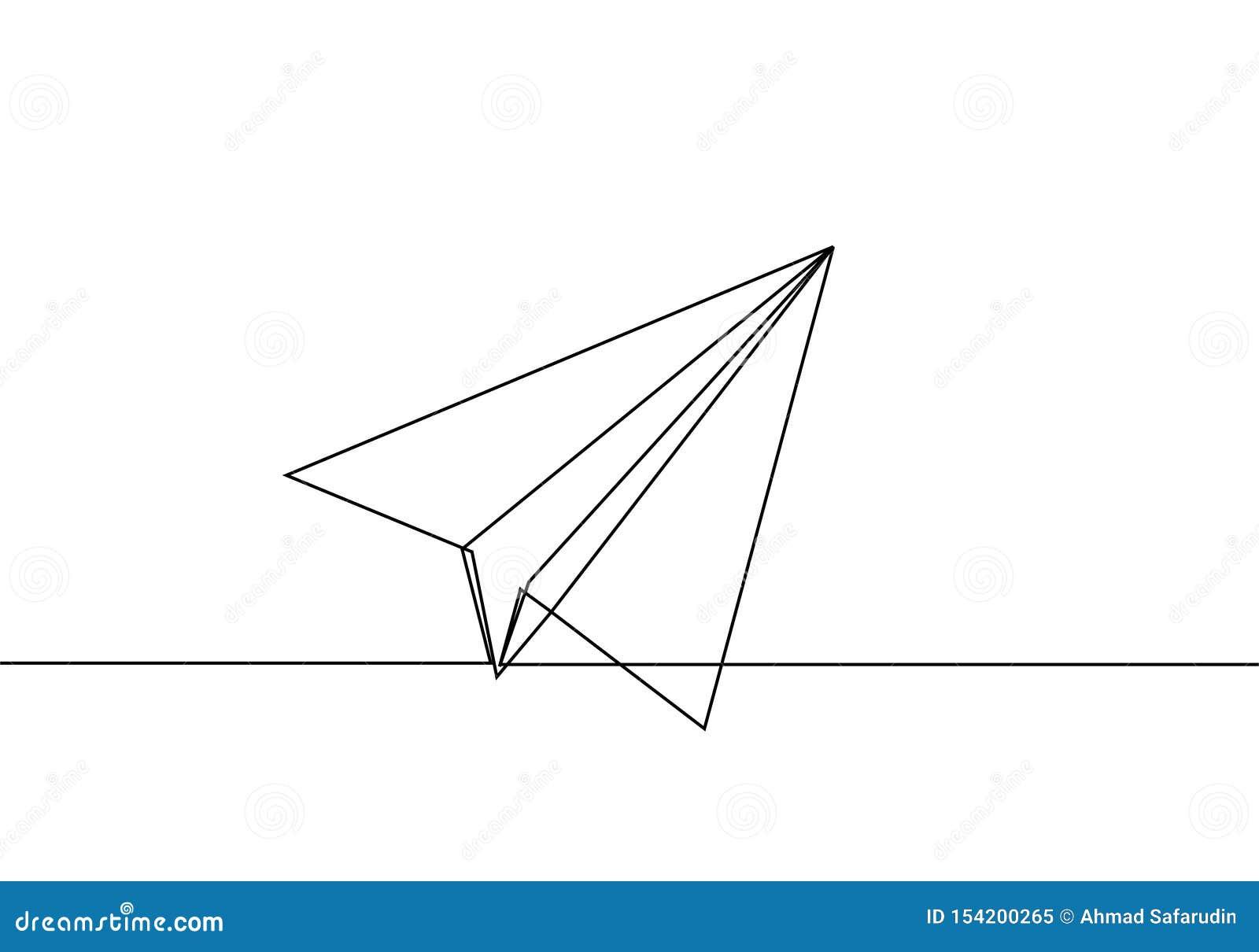 Σχέδιο γραμμών αεροπλάνων εγγράφου συνεχές μινιμαλισμός σχεδίου lineart