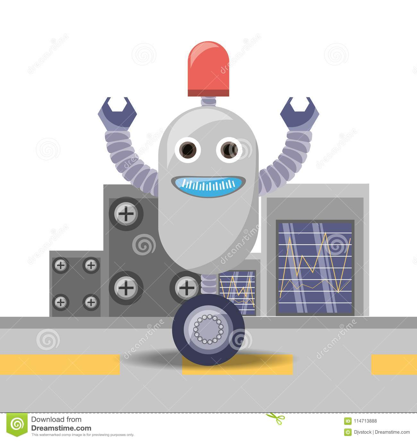 σχέδιο κινούμενων σχεδίων ρομπότ