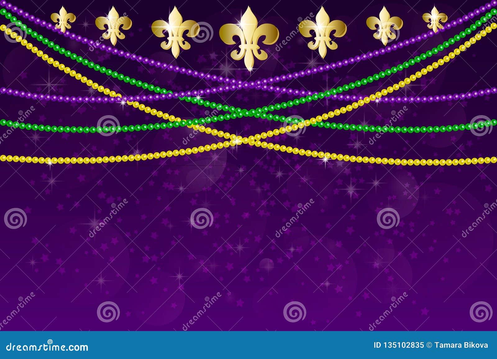 Σχέδιο κομμάτων καρναβαλιού gras της Mardi