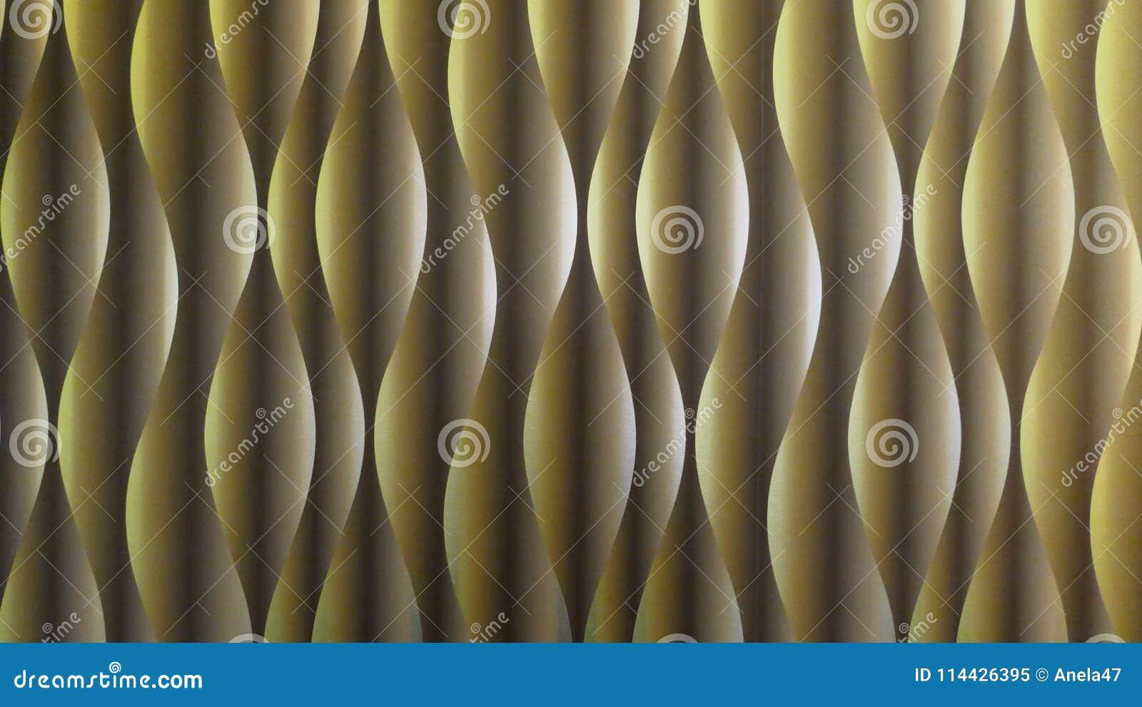 Σχέδιο κυμάτων, σπειροειδές σχέδιο Περίληψη Σύγχρονο φουτουριστικό υπόβαθρο, λαδί, με το φως και την επίδραση σκιών