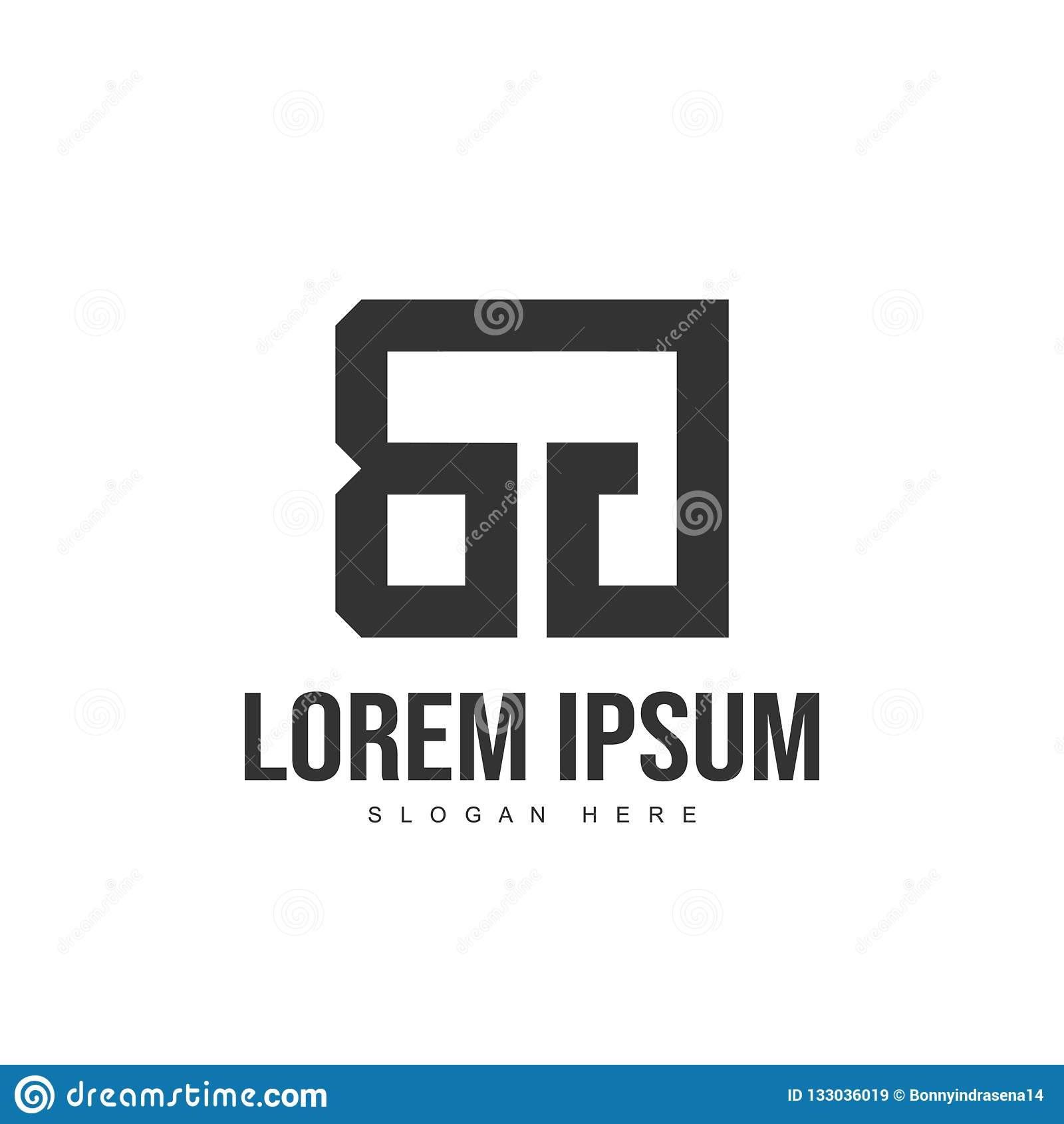 Σχέδιο λογότυπων επιστολών του BG Αρχικό πρότυπο λογότυπων επιστολών