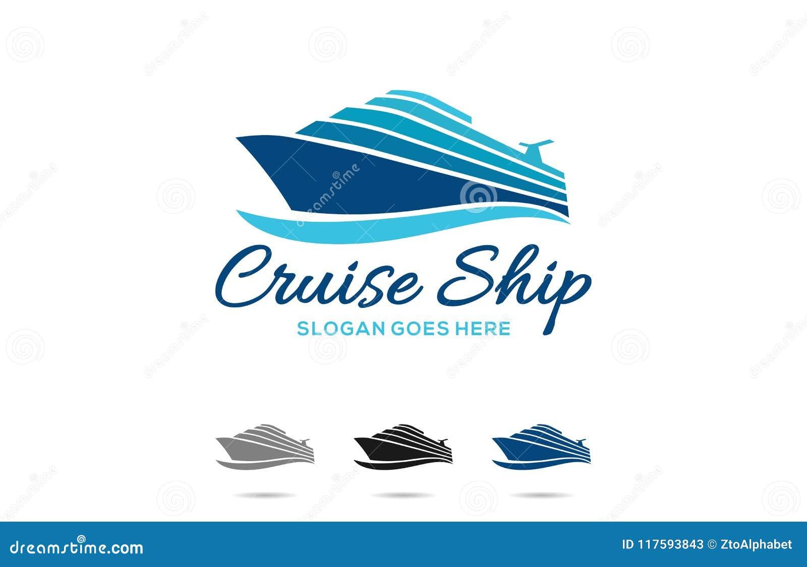 Σχέδιο λογότυπων κρουαζιερόπλοιων ταξιδιού