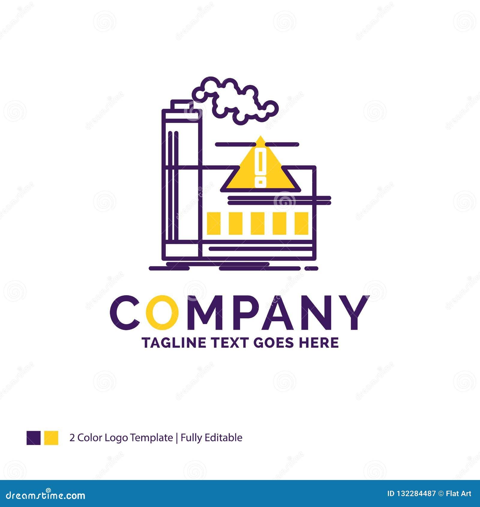Σχέδιο λογότυπων ονόματος επιχείρησης για τη ρύπανση, εργοστάσιο, αέρας, επιφυλακή, IND