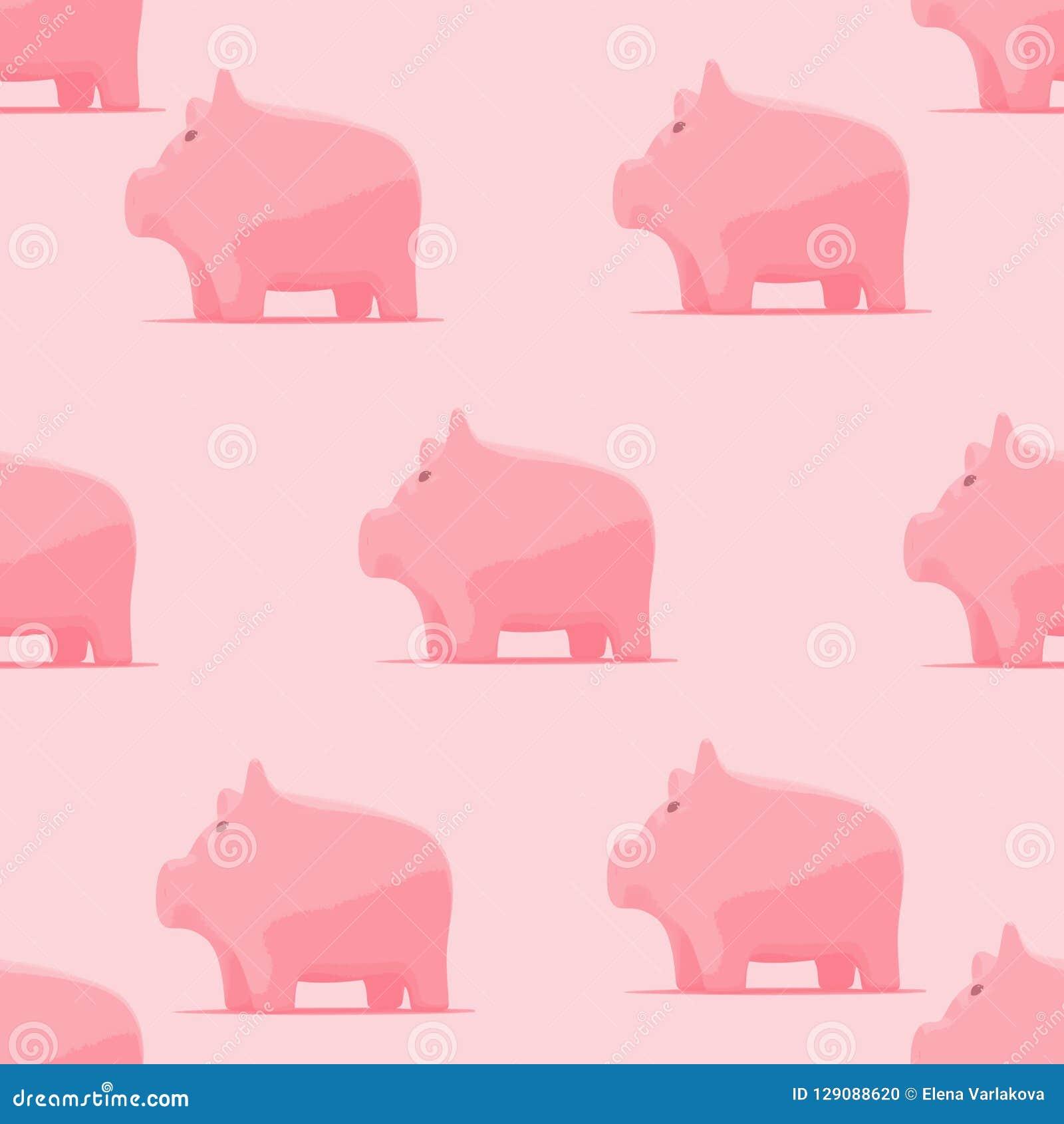Σχέδιο με piggy για το ύφασμα μωρών