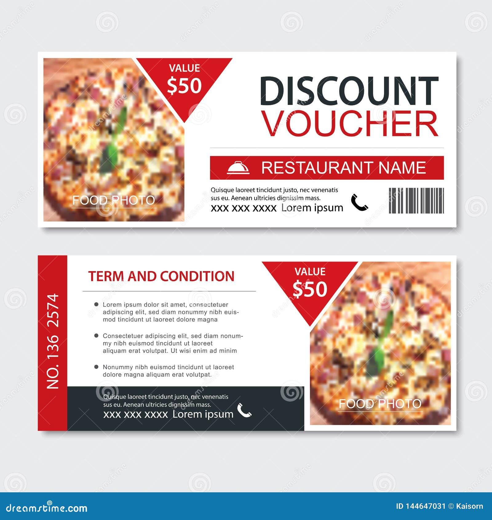 Σχέδιο προτύπων γρήγορου φαγητού αποδείξεων δώρων έκπτωσης Σύνολο πιτσών Χρήση για το δελτίο, έμβλημα, ιπτάμενο, πώληση, προώθηση