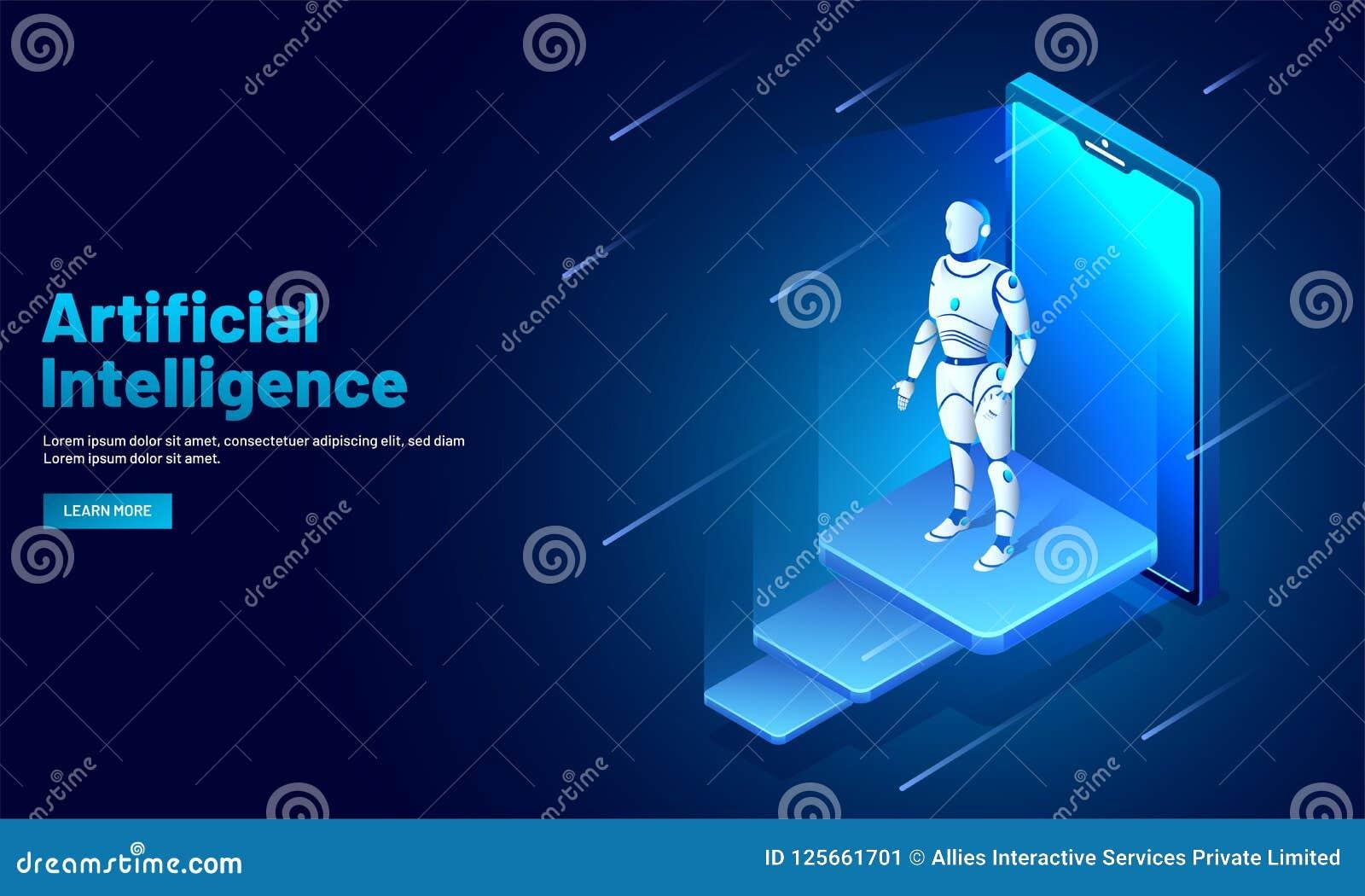 Σχέδιο προτύπων Ιστού τεχνητής νοημοσύνης (AI), isometric smar