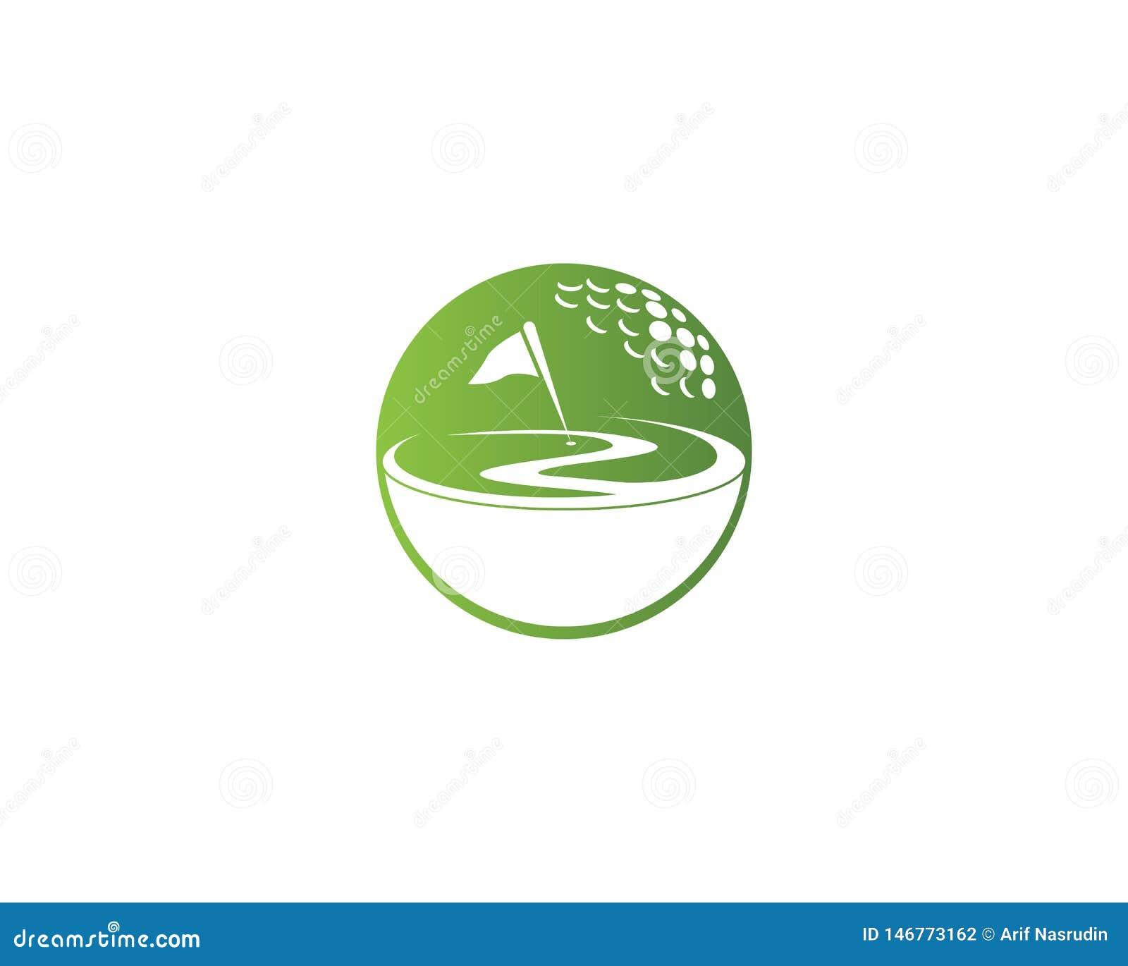 Σχέδιο προτύπων λογότυπων εικονιδίων τομέων γκολφ