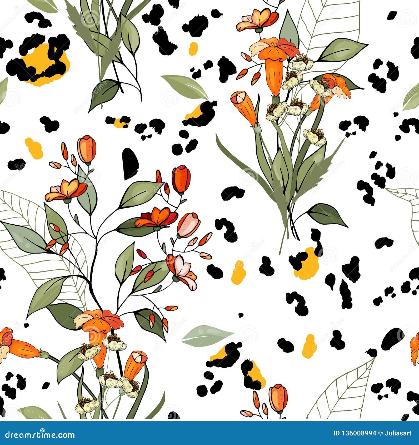 Σχέδιο της Αφρικής σαφάρι της λεοπάρδαλης και της τίγρης, του φιδιού και του με ραβδώσεις διάνυσμα Σύγχρονες ζωικές τυπωμένες ύλε