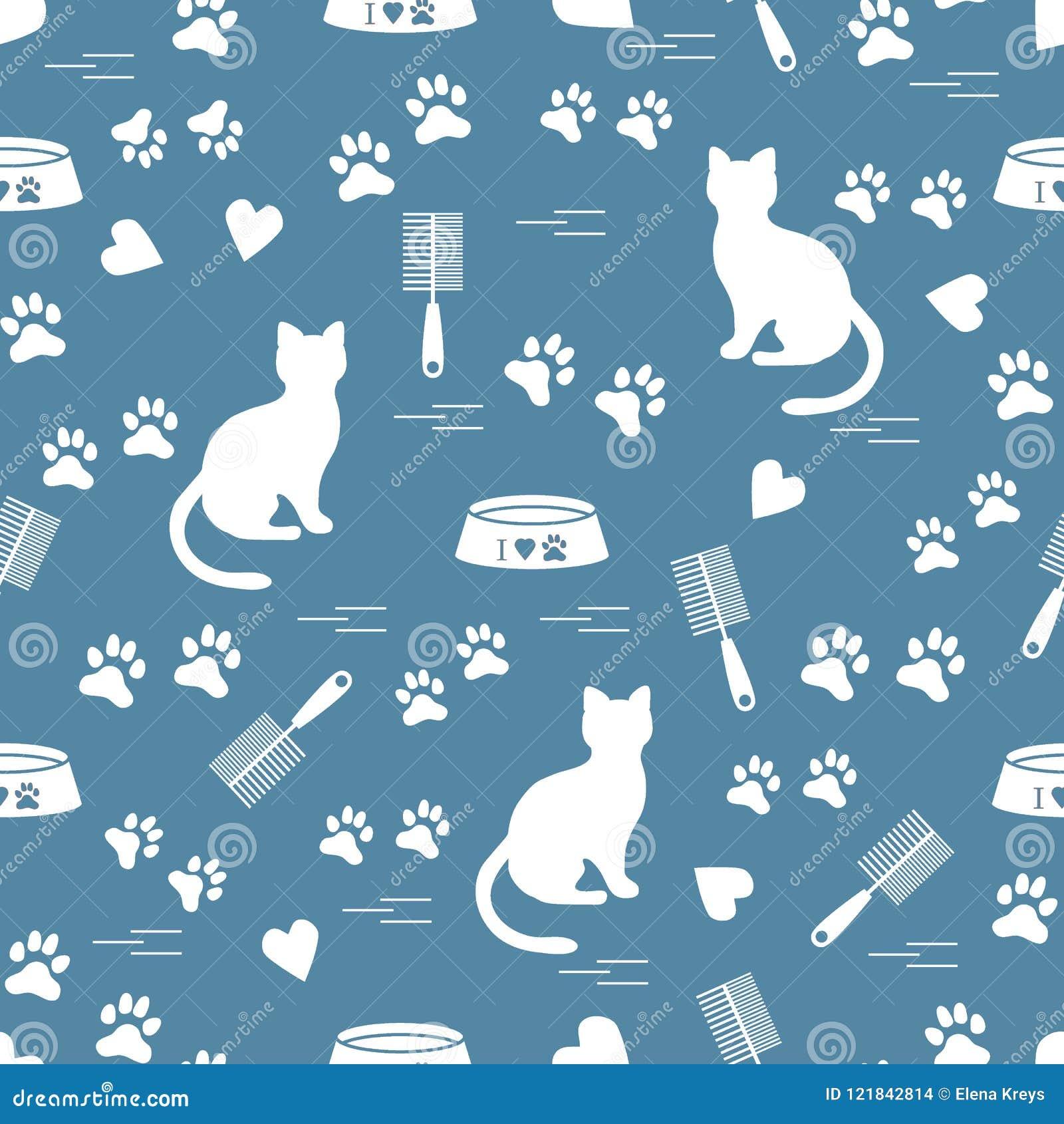 Σχέδιο της Νίκαιας της γάτας συνεδρίασης σκιαγραφιών, ίχνη, καρδιές, κύπελλο και