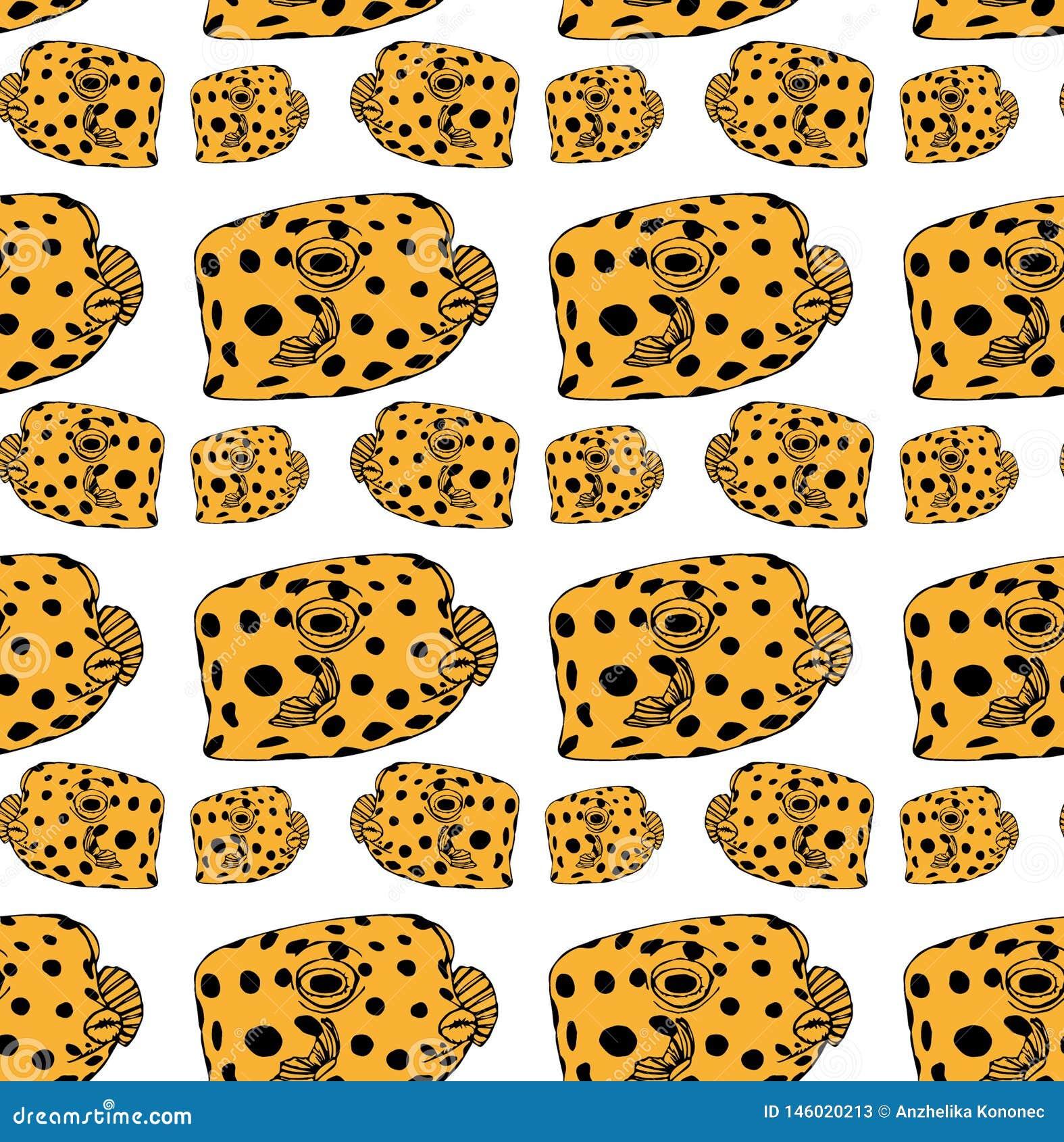 Σχέδιο ψάρι-κιβωτίων κίτρινο