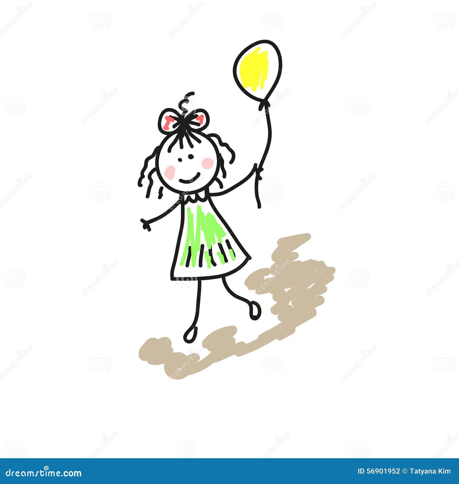 Σχέδιο απεικόνισης ενός κοριτσιού
