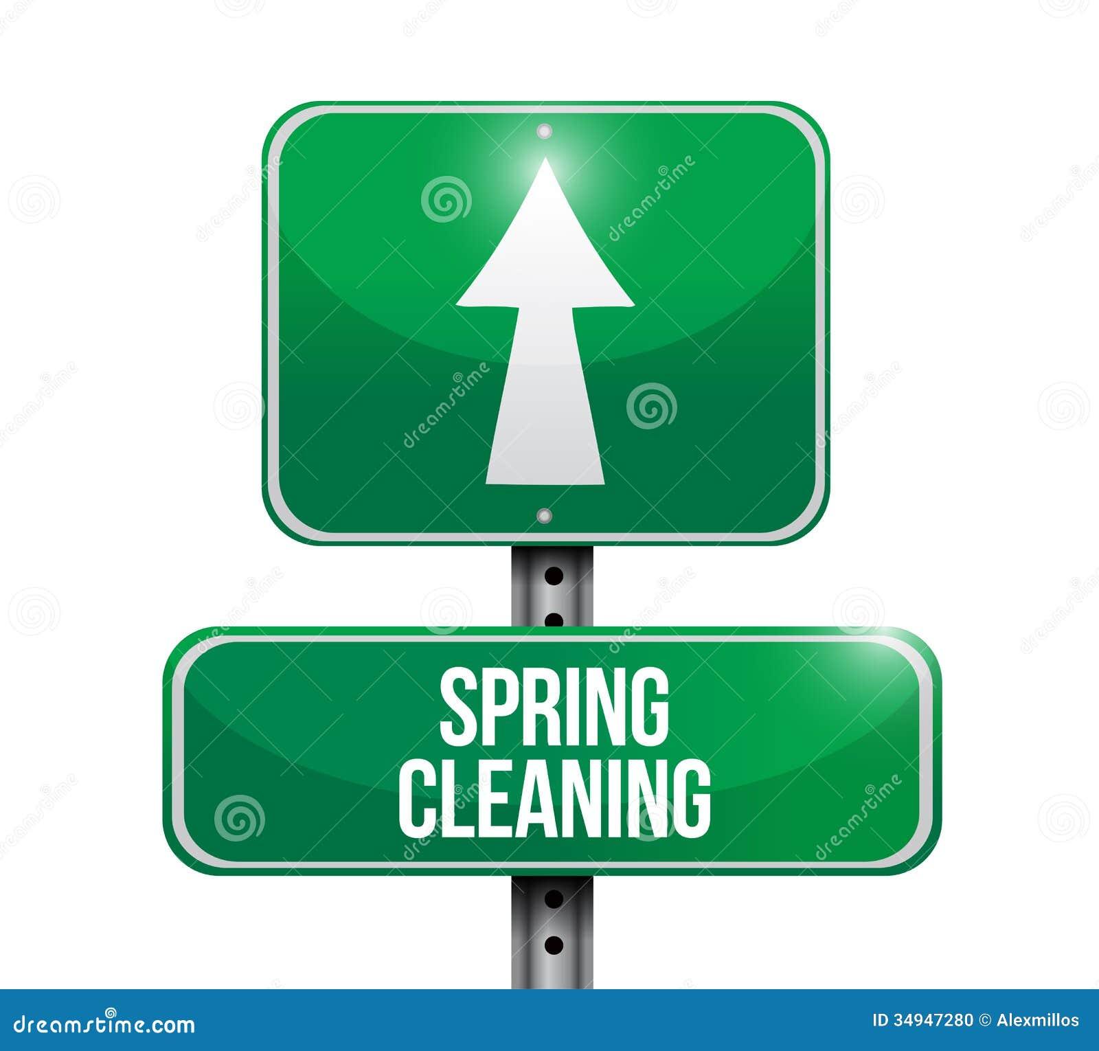 Σχέδιο απεικόνισης οδικών σημαδιών ανοιξιάτικου καθαρισμού