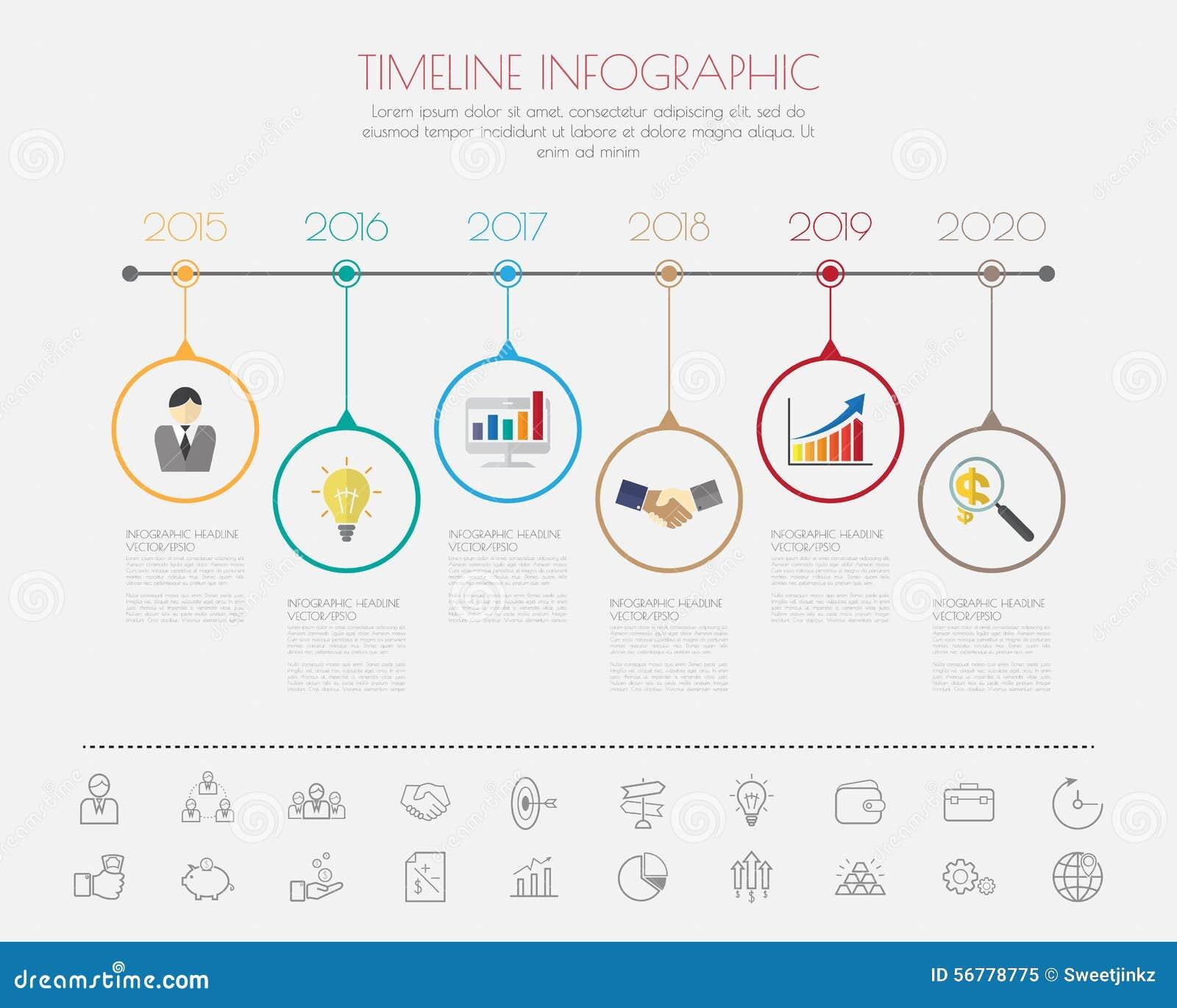 Σχέδιο βημάτων χρώματος με το πρότυπο υπόδειξης ως προς το χρόνο εικονιδίων χρώματος/γραφικός ή