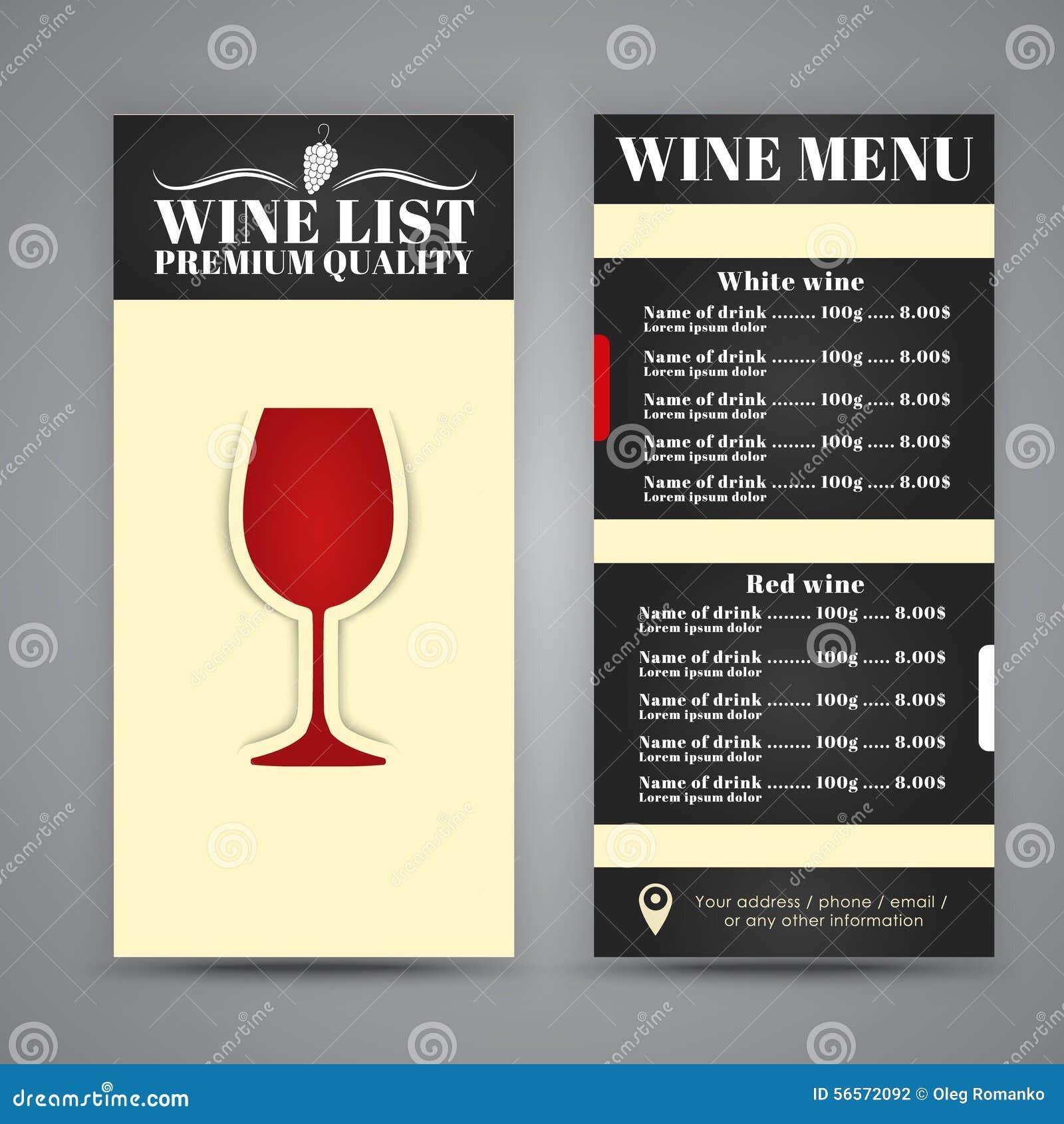 Download Σχέδιο επιλογών για τους καφέδες κρασιού, εστιατόρια Διανυσματική απεικόνιση - εικονογραφία από floral, κομψότητα: 56572092