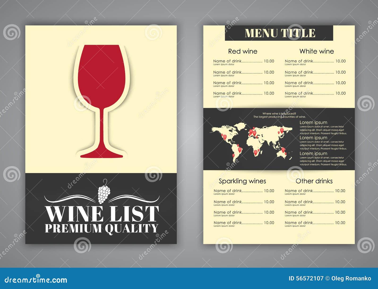 Download Σχέδιο επιλογών για τους καφέδες κρασιού, εστιατόρια Διανυσματική απεικόνιση - εικονογραφία από απαγορευμένα, άμπελος: 56572107