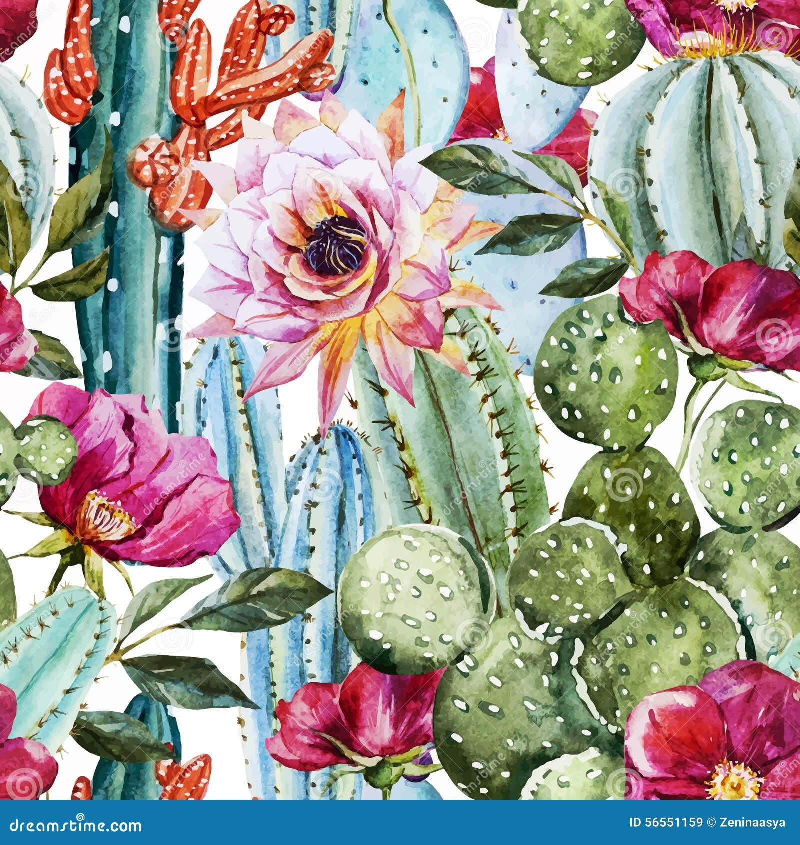 Download Σχέδιο κάκτων Watercolor διανυσματική απεικόνιση. εικονογραφία από σχέδιο - 56551159