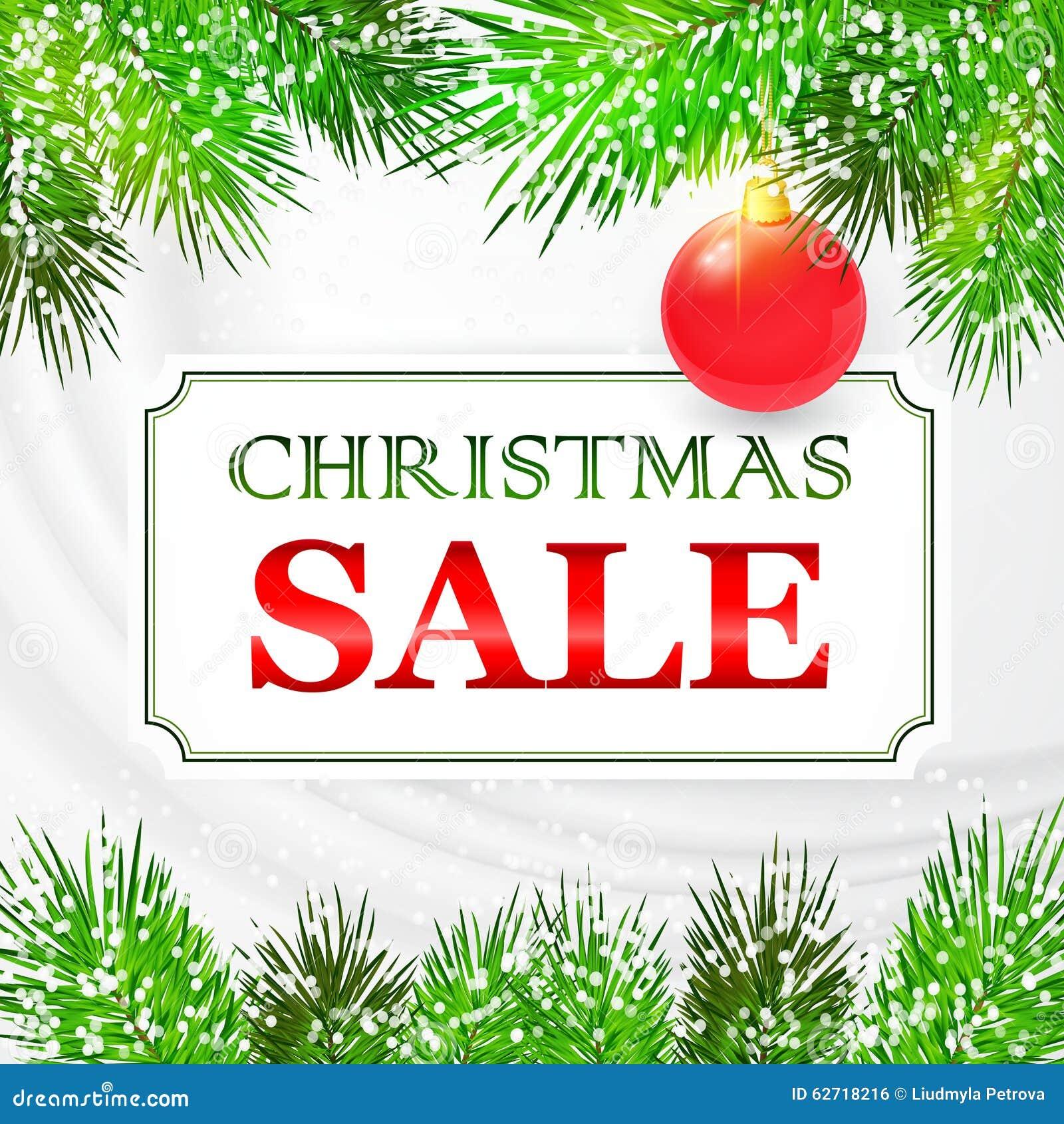 Σχέδιο καρτών πώλησης Χριστουγέννων με τους κλάδους έλατου