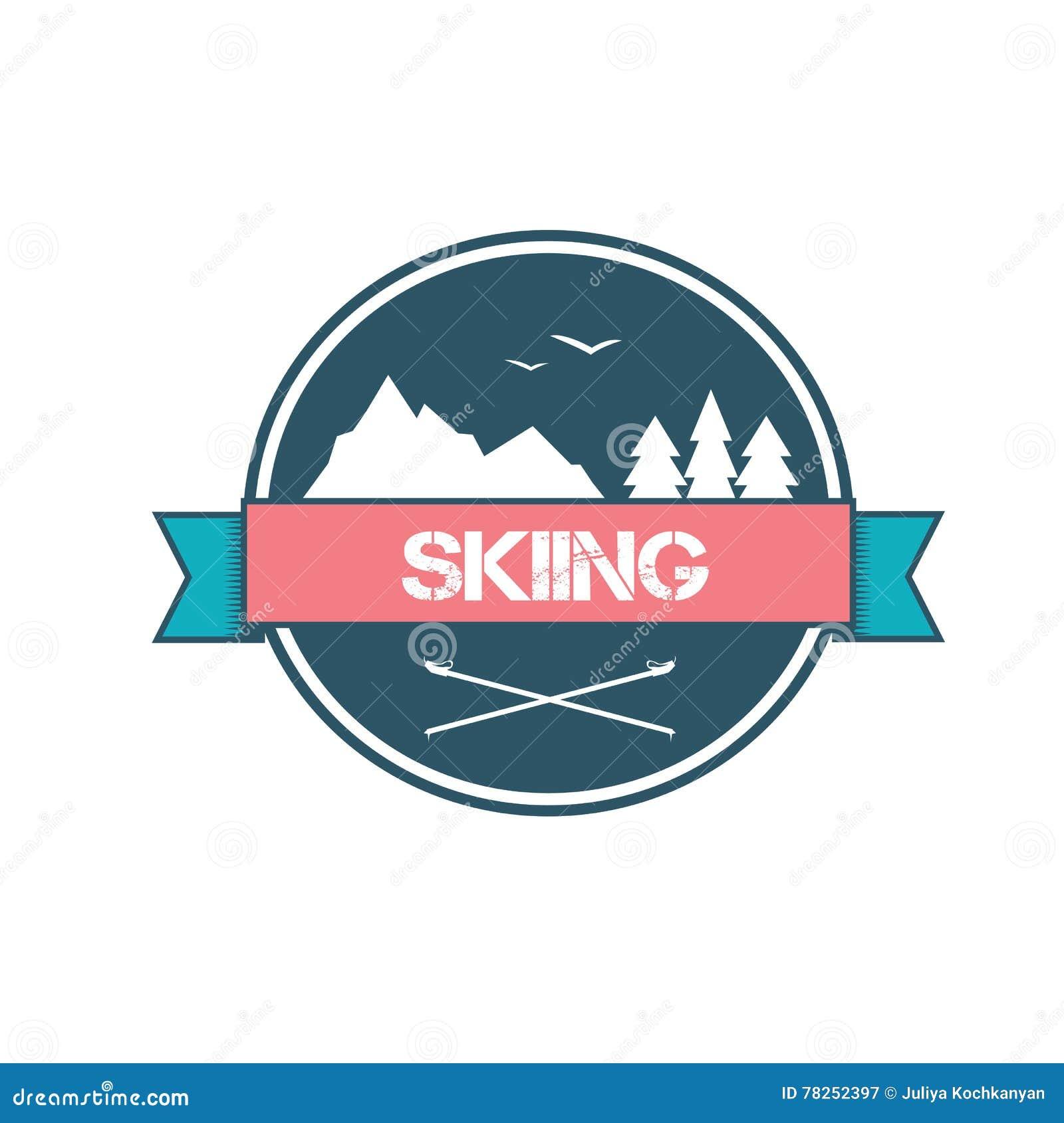 Σχέδιο λογότυπων για να κάνει σκι