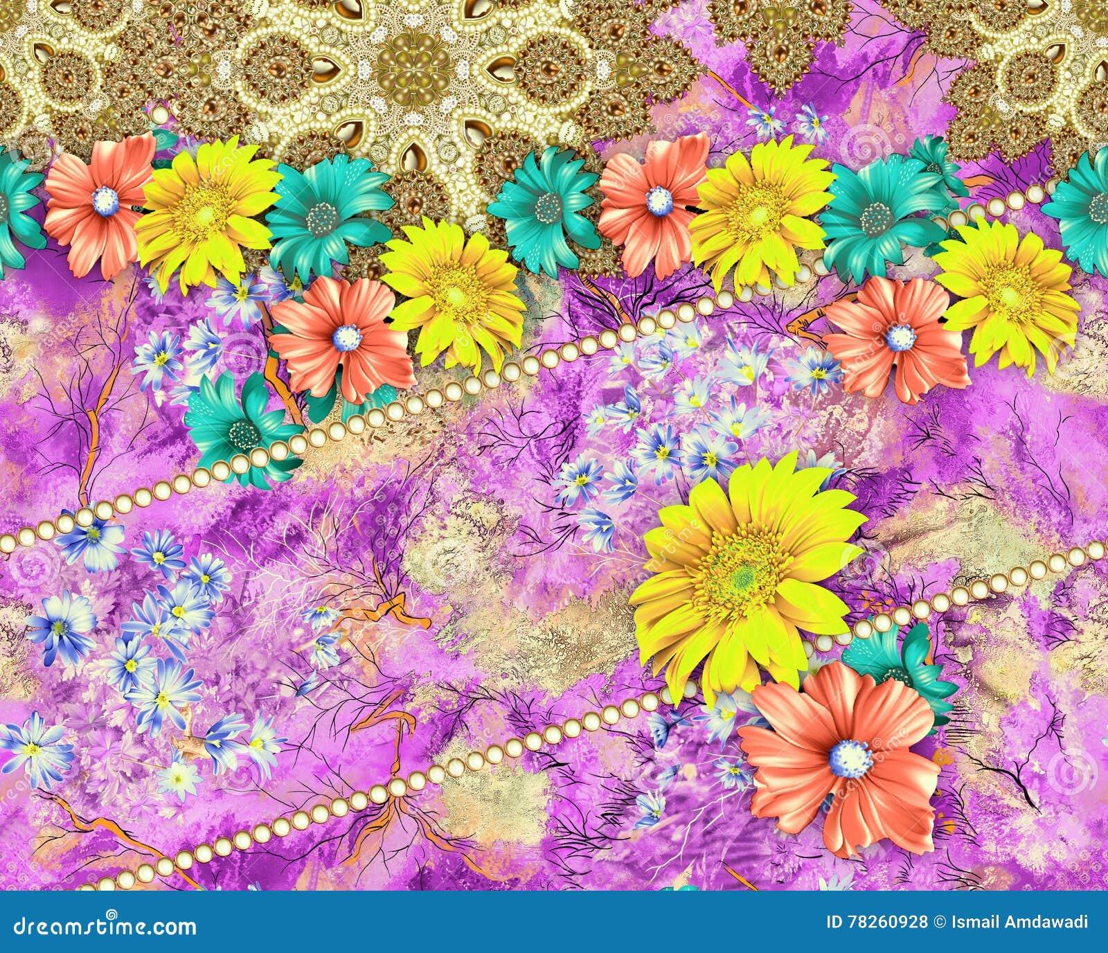 Σχέδιο υφάσματος υποβάθρου με το λουλούδι