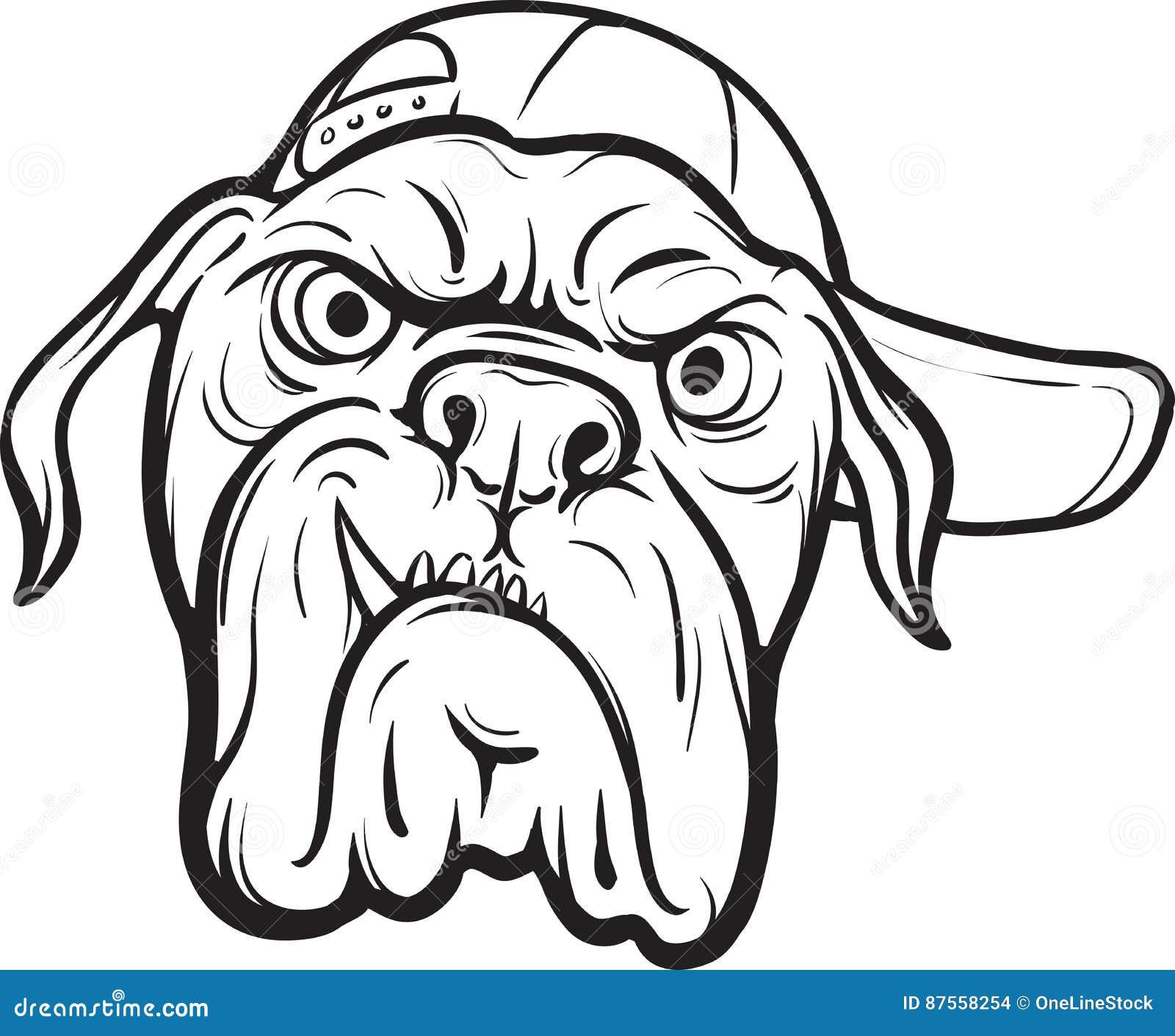 Σχέδιο Whiteboard - πρόσωπο σκυλιών