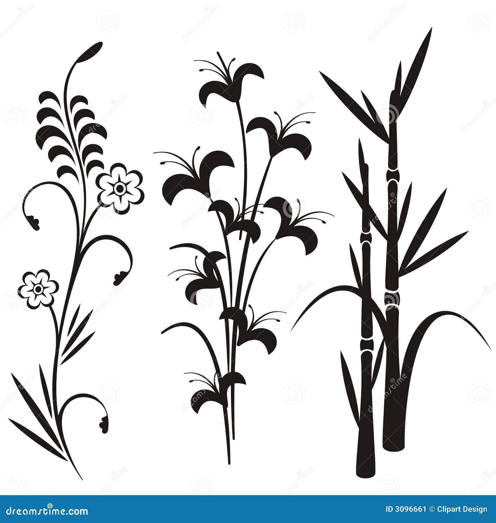 σχεδιάστε τη floral ιαπωνική σειρά