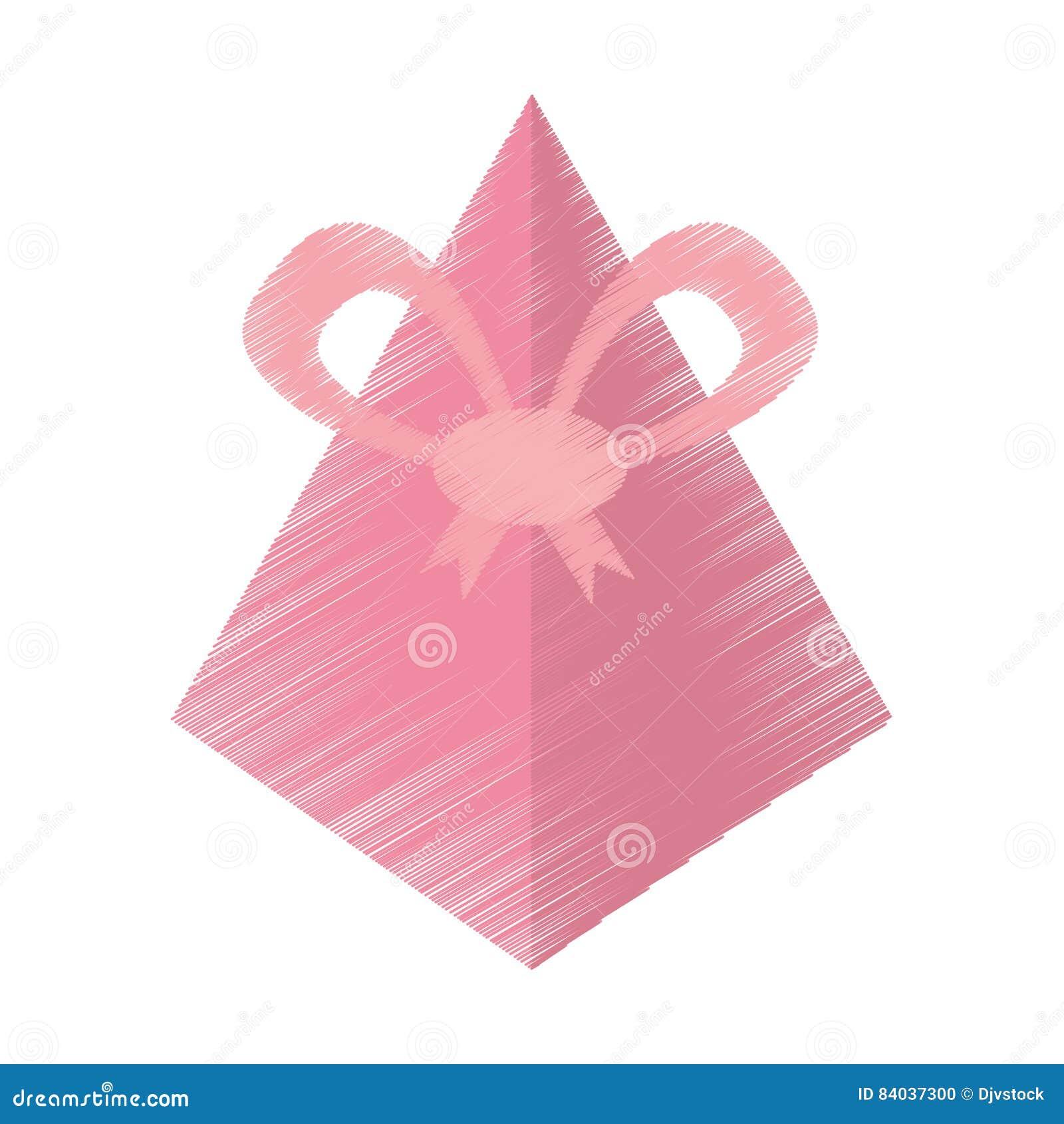 σχεδιασμός του ρόδινου τόξου πυραμίδων κιβωτίων δώρων